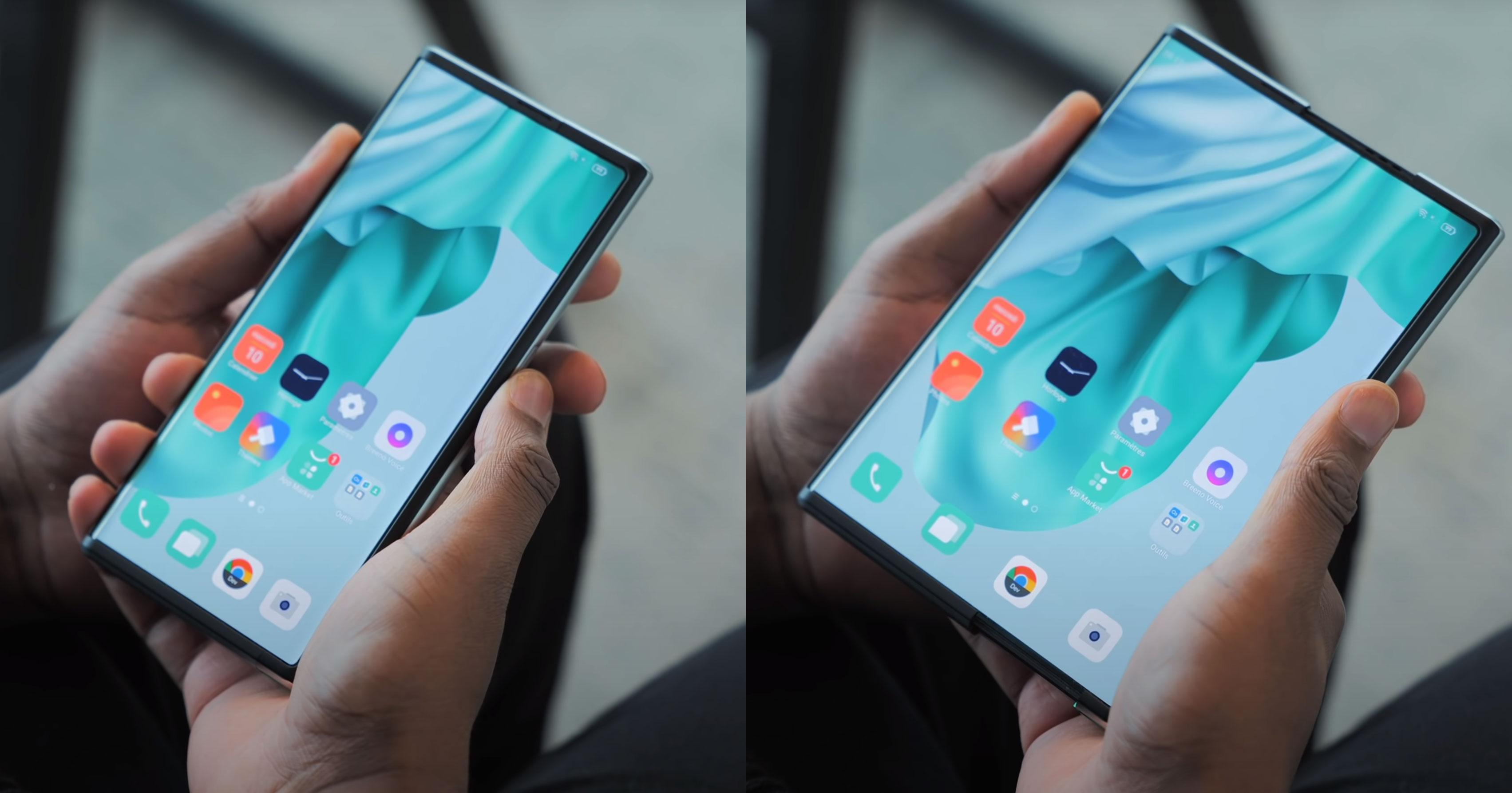 Se mobilen utvide seg i hånda hans