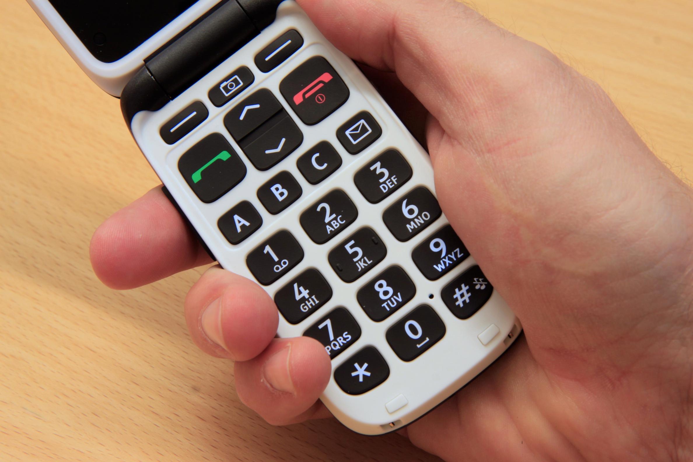 Det er hurtigtaster for å ringe de tre mest brukte telefonnummerne.Foto: Kurt Lekanger, Amobil.no