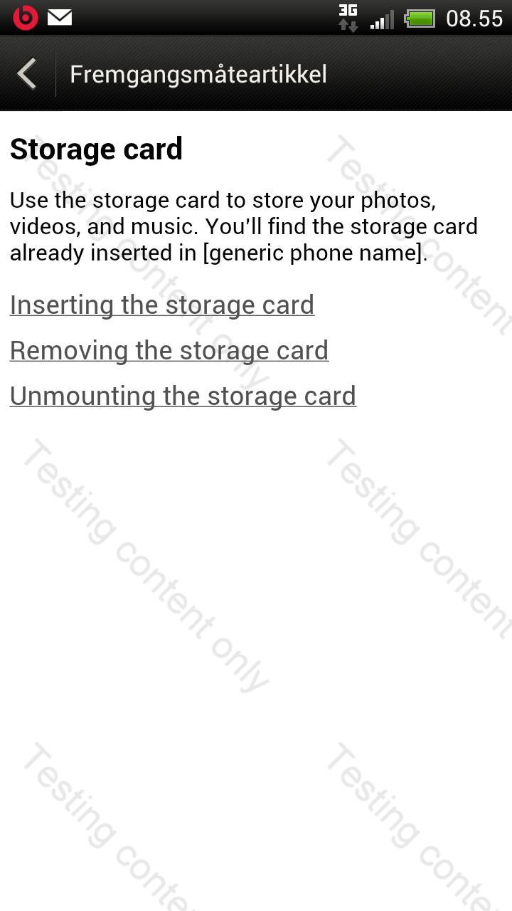 Slik bytter du minnekort? Nei, det er ikke minnekort i denne mobilen.