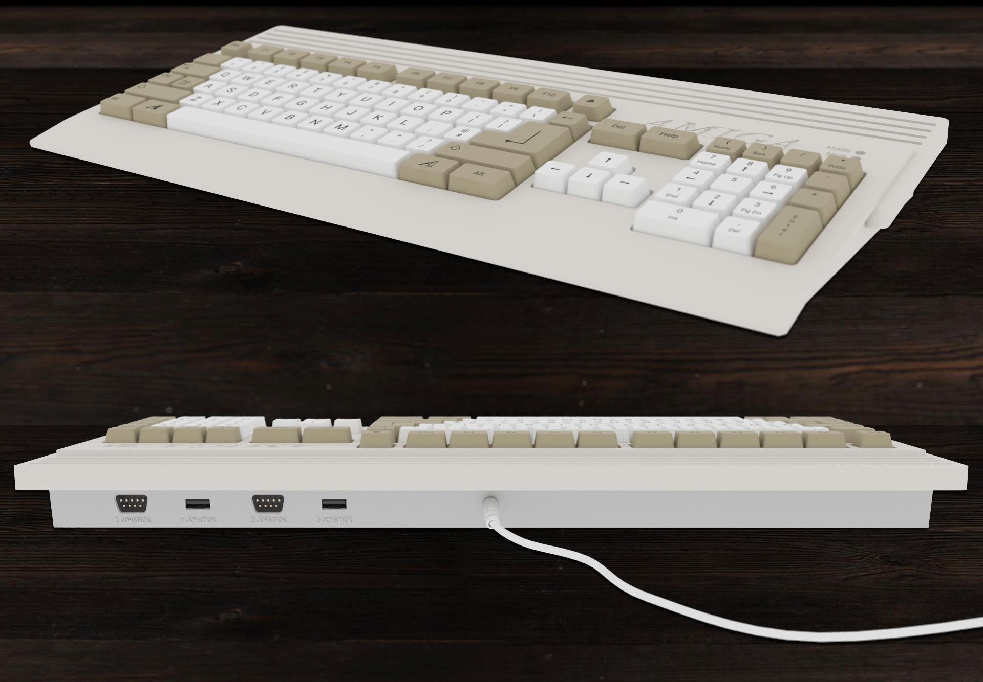 Slik skal tastaturet se ut.