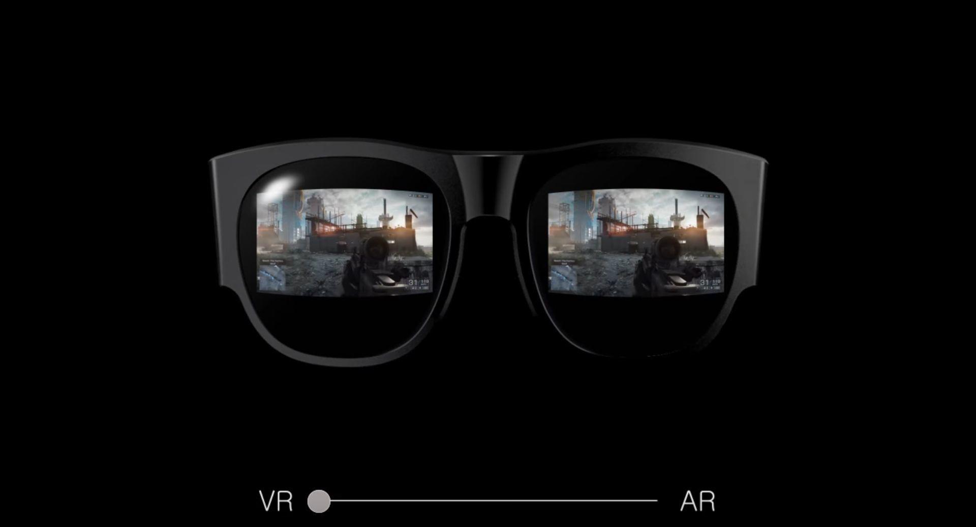 Brillene skal enkelt kunne veksle mellom virtuell og utvidet virkelighet.