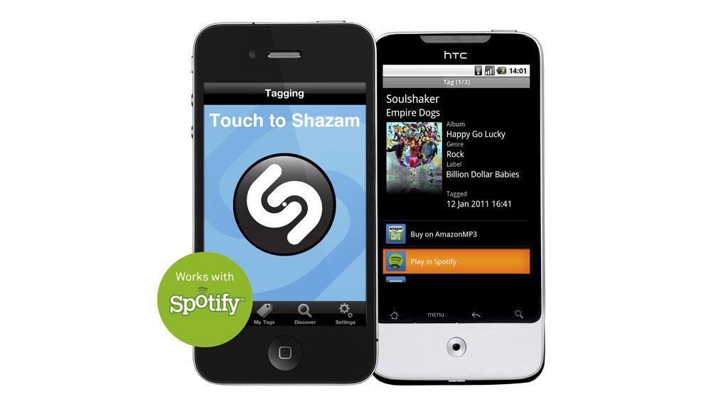 Gjenkjenn, og spill i Spotify