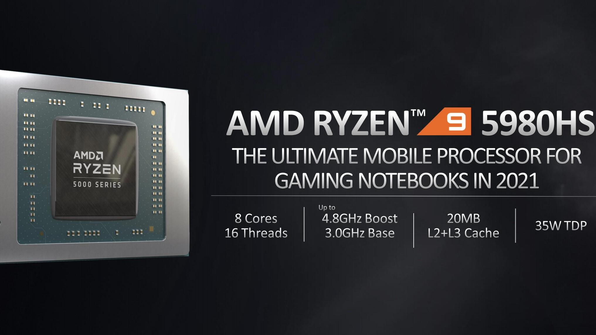 AMD har sluppet Ryzen 5000-serien for bærbare