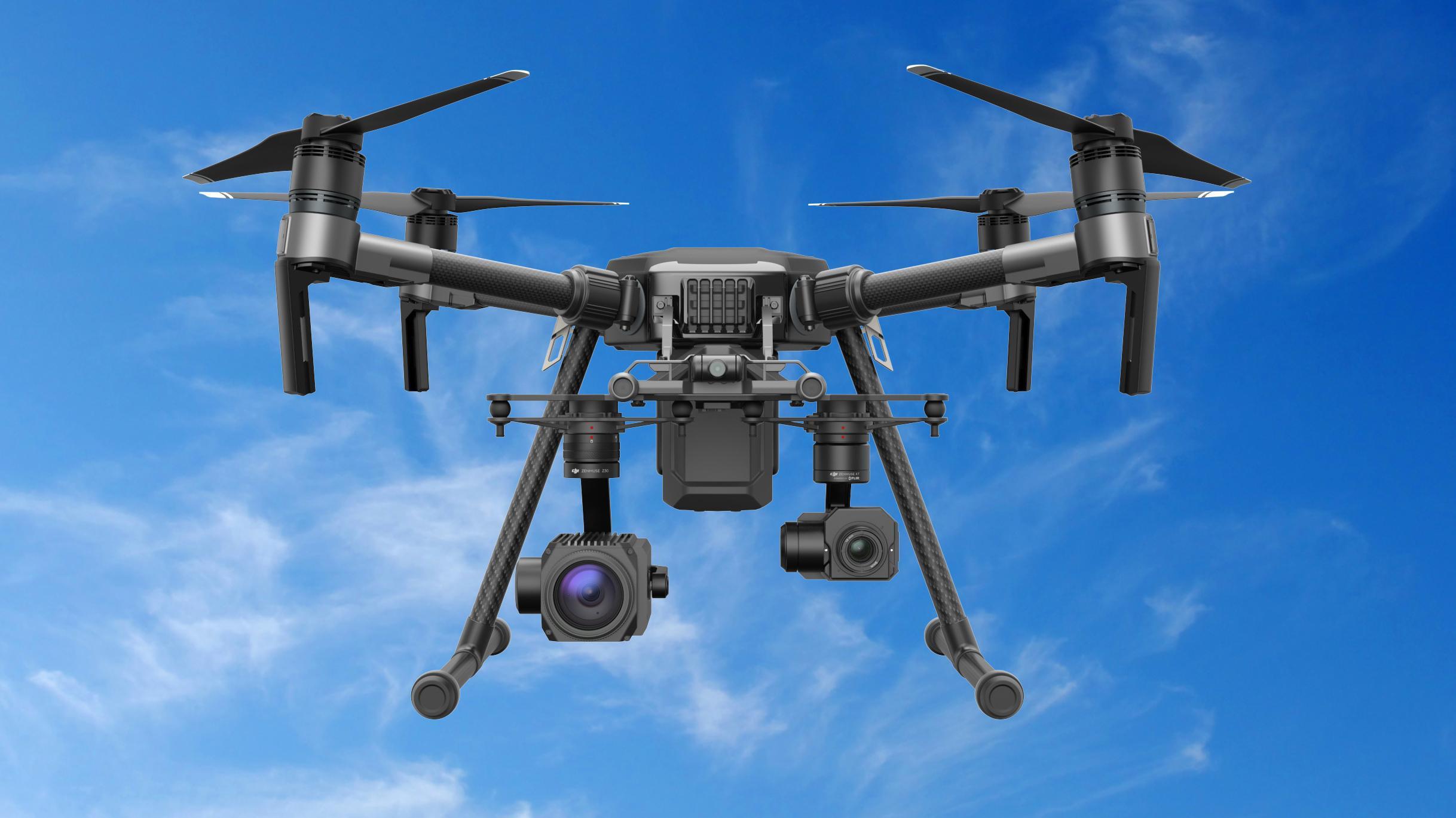 DJI slipper hardhaus-drone med plass til tre kameraer