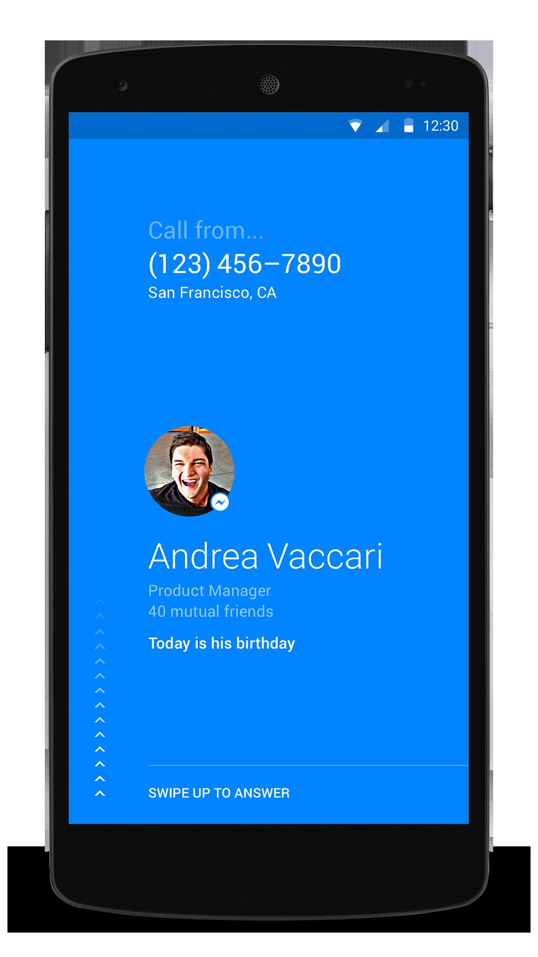 Appen gjør det enkelt å se hvem som ringer. Foto: Facebook