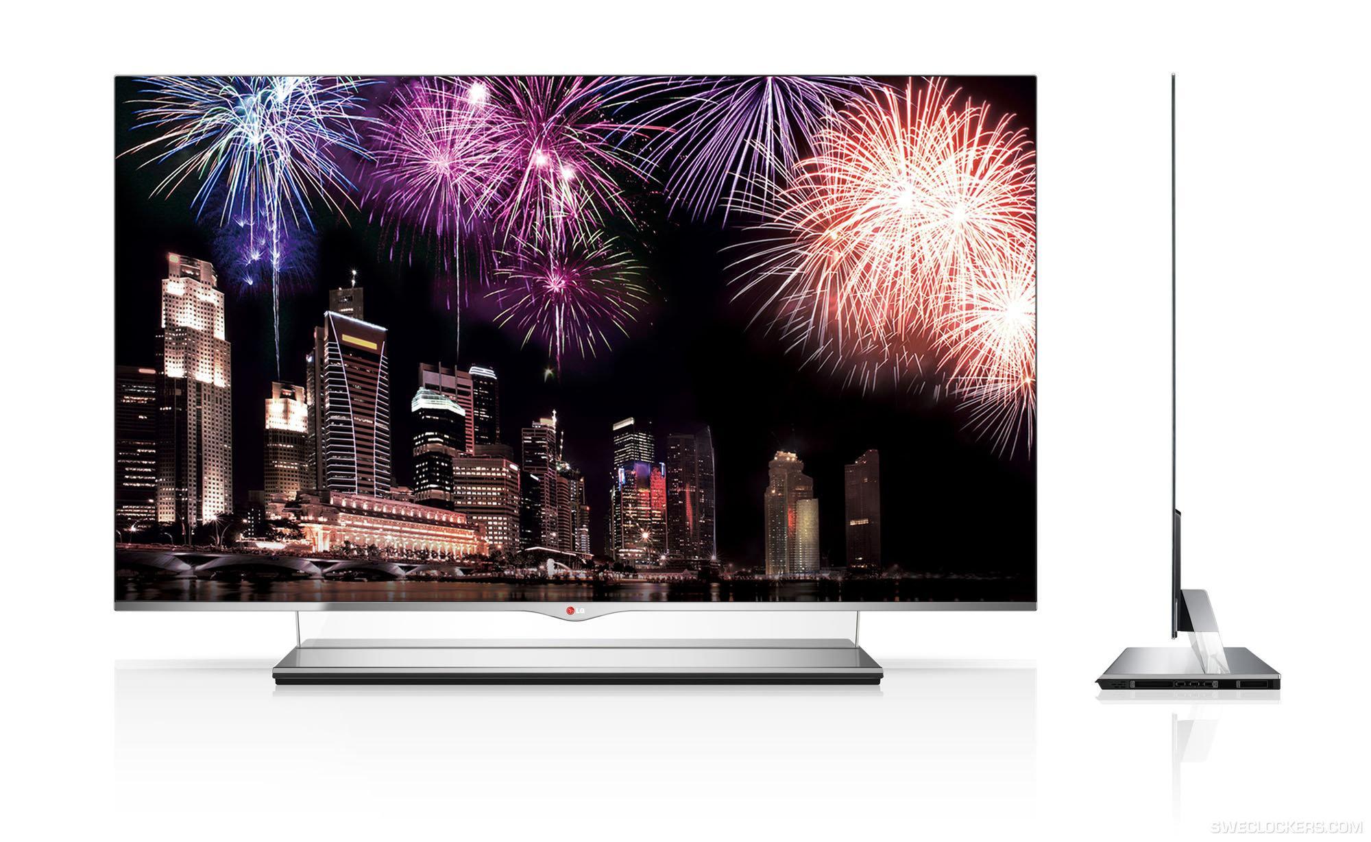 LGs OLED-TV er endelig ferdigstilt og dukker opp på markedet som 55EM9700.Foto: LG