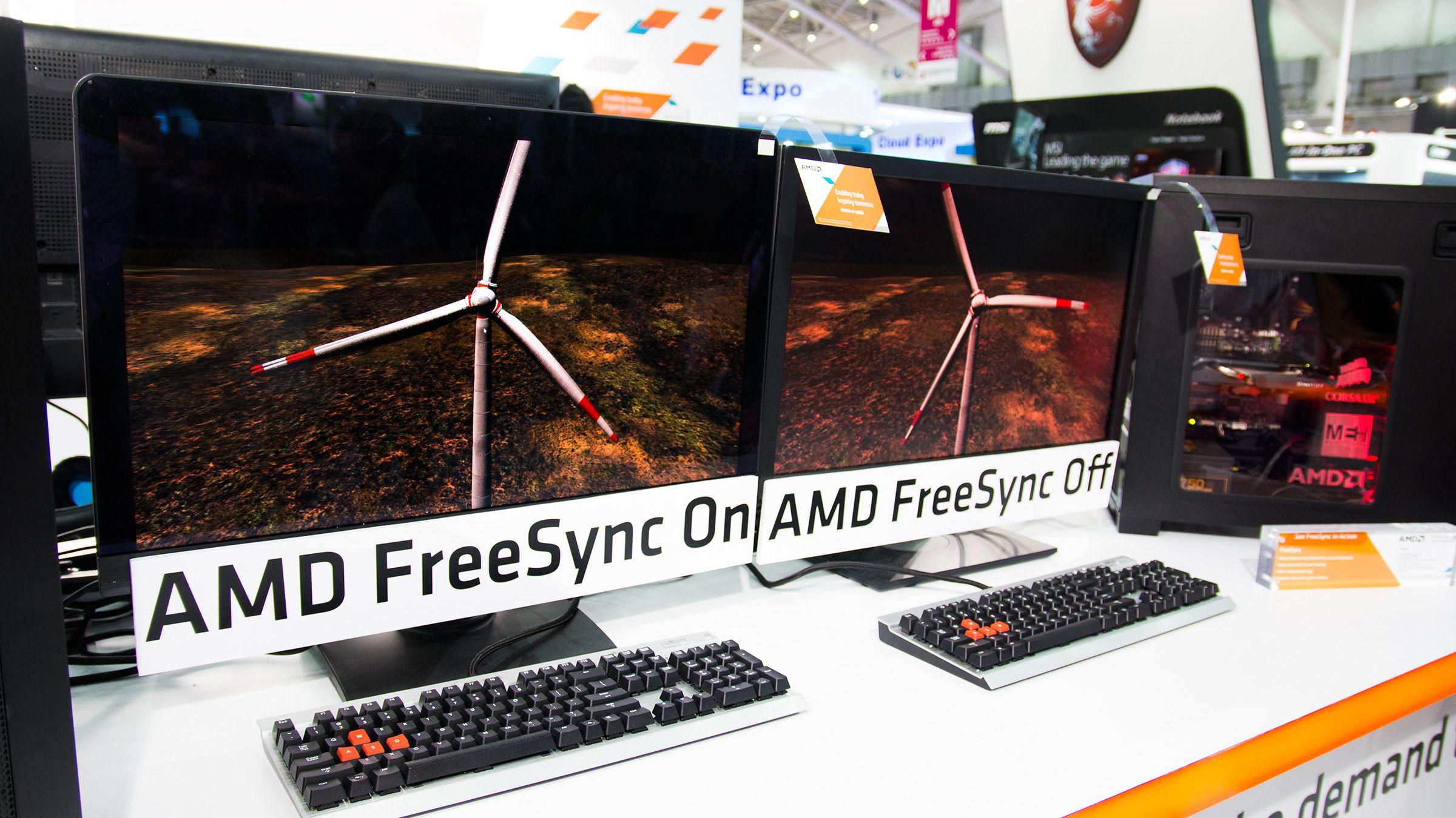 FreeSync-skjermene later til å gi en svært mye jevnere bildeflyt.Foto: Varg Aamo, Hardware.no