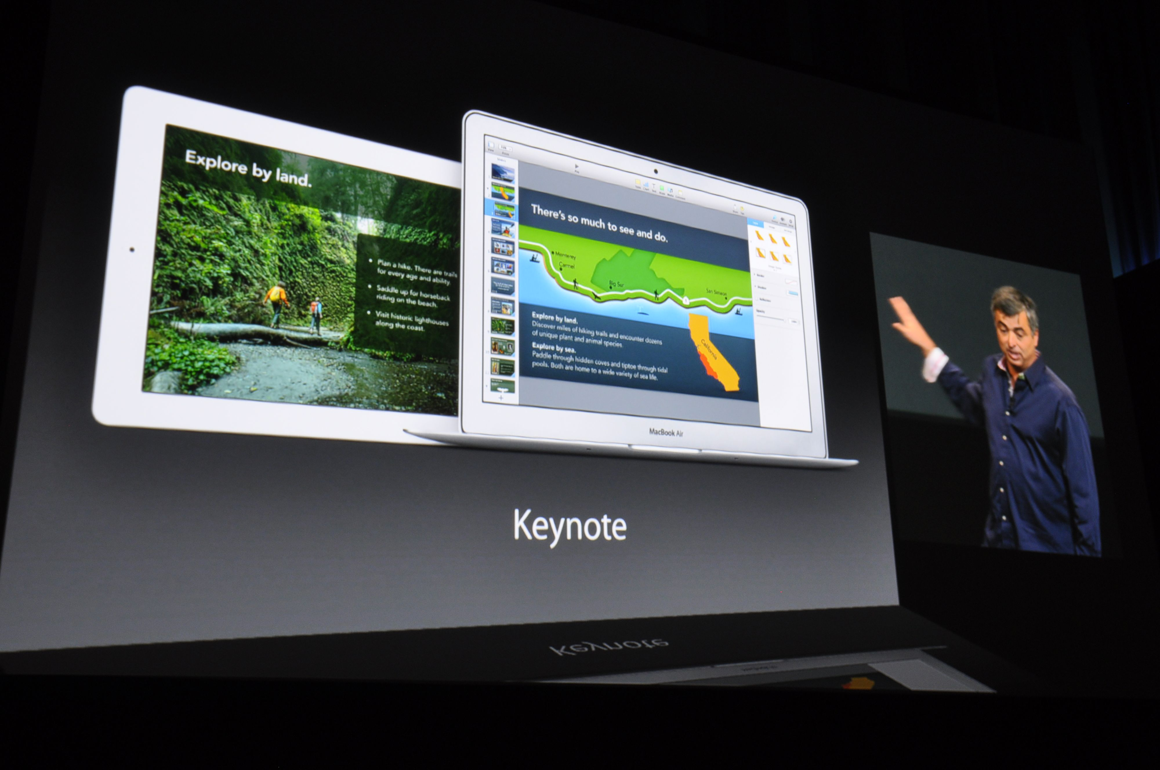 Presentasjonsprogramvaren Keynote har fått mange nye funksjoner og overganger. . Foto: Finn Jarle Kvalheim, Amobil.no