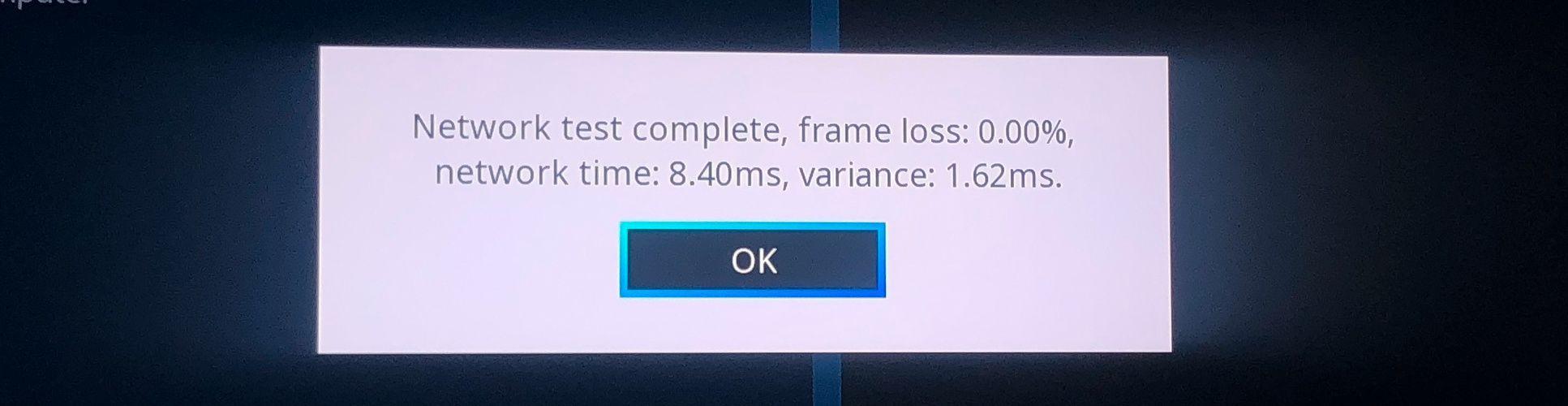 Steam Link-appen tar en liten sjekk av tilkoblingen mellom TV-en og PC-en før den setter igang.