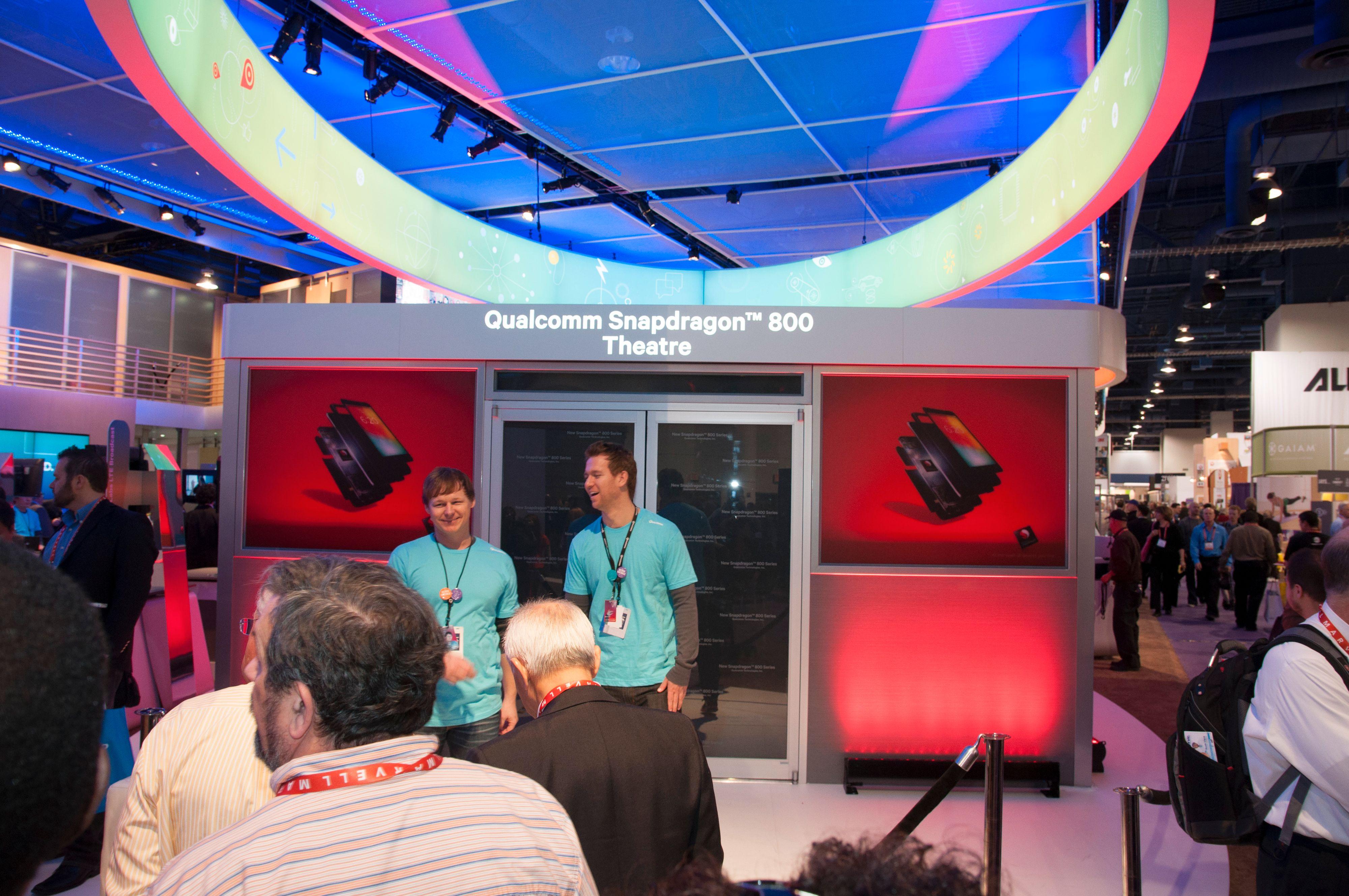 Snapdragon 800 kan vise video i 4K, noe som ble demonstrert på en av Sonys nye 4K-TV-er i en spesialbygget kinosal.Foto: Finn Jarle Kvalheim, Amobil.no