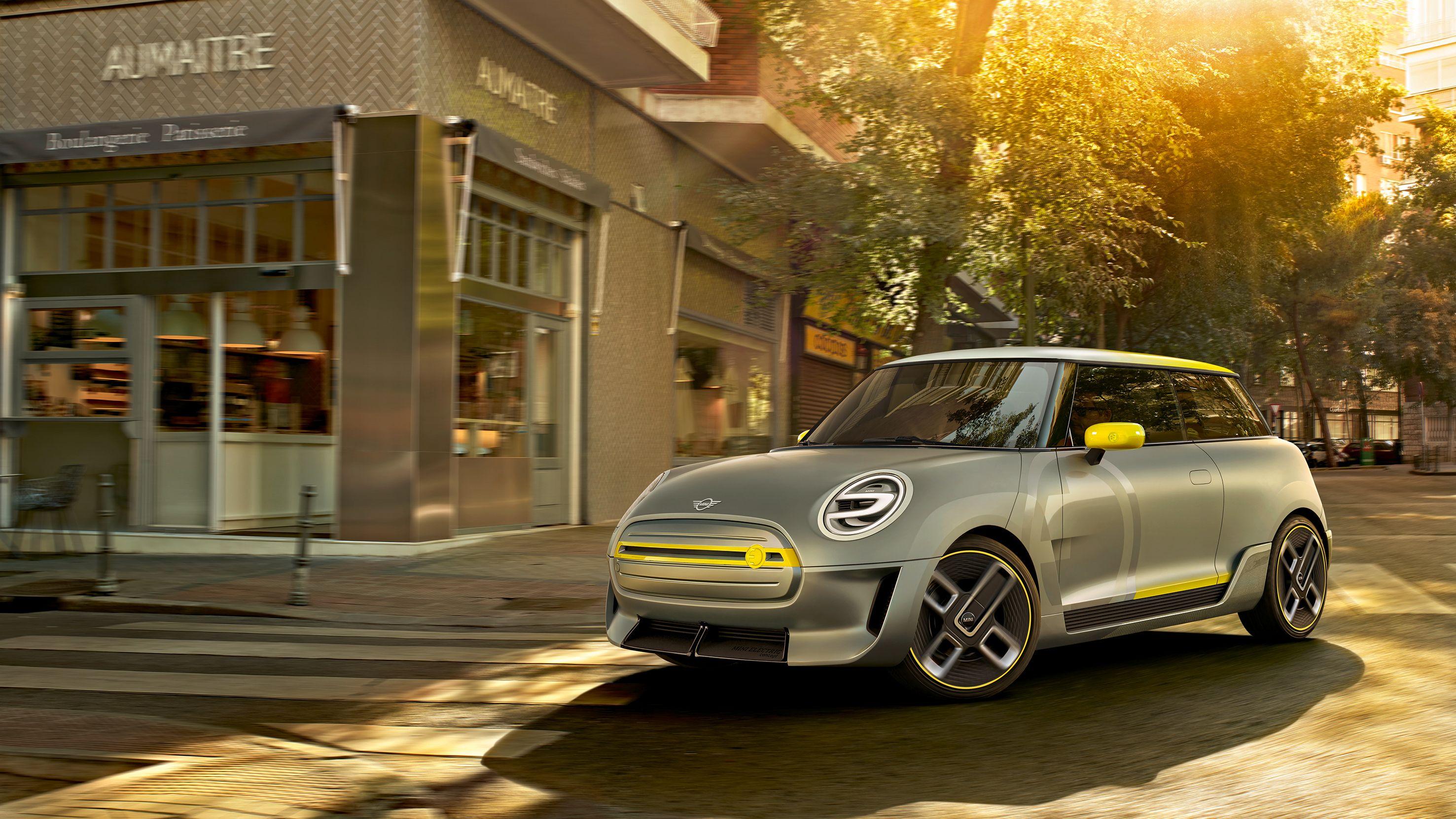 Konseptbilder er fortsatt det eneste vi har av den elektriske Minien. Bilde: BMW Group