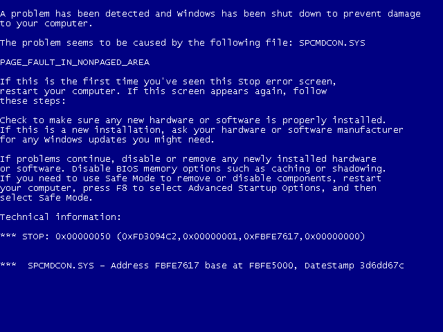 «Blue Screen of Death» skal ha fått begeret til å renne over. Foto: Wikimedia
