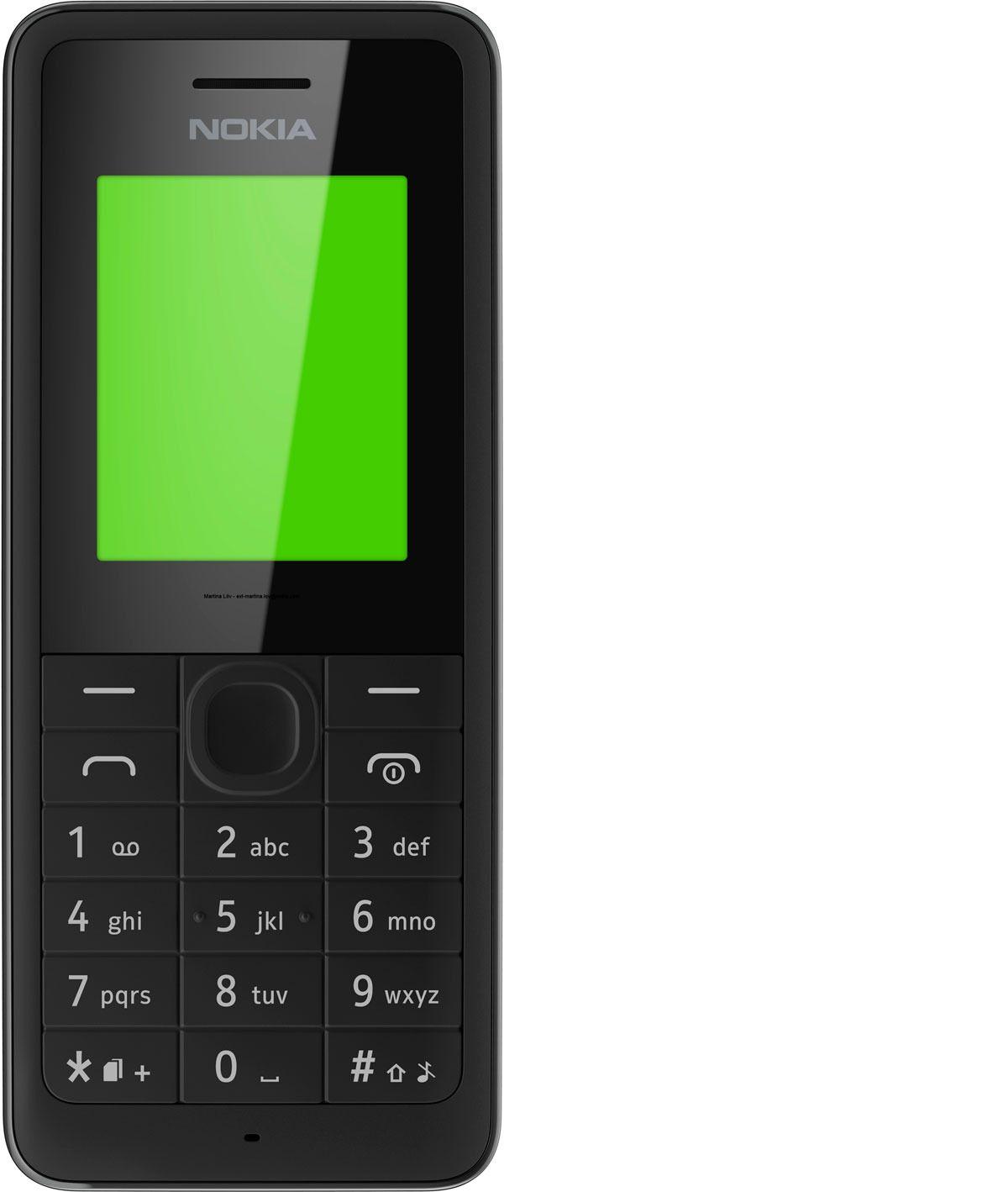 Nokia 106 er billig og enkel, og  har ekstremt god batteritid.Foto: Nokia