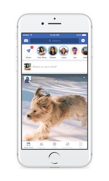 Direct lar deg dele videoer og bilder i Snapchat-stil med utvalgte bekjente.