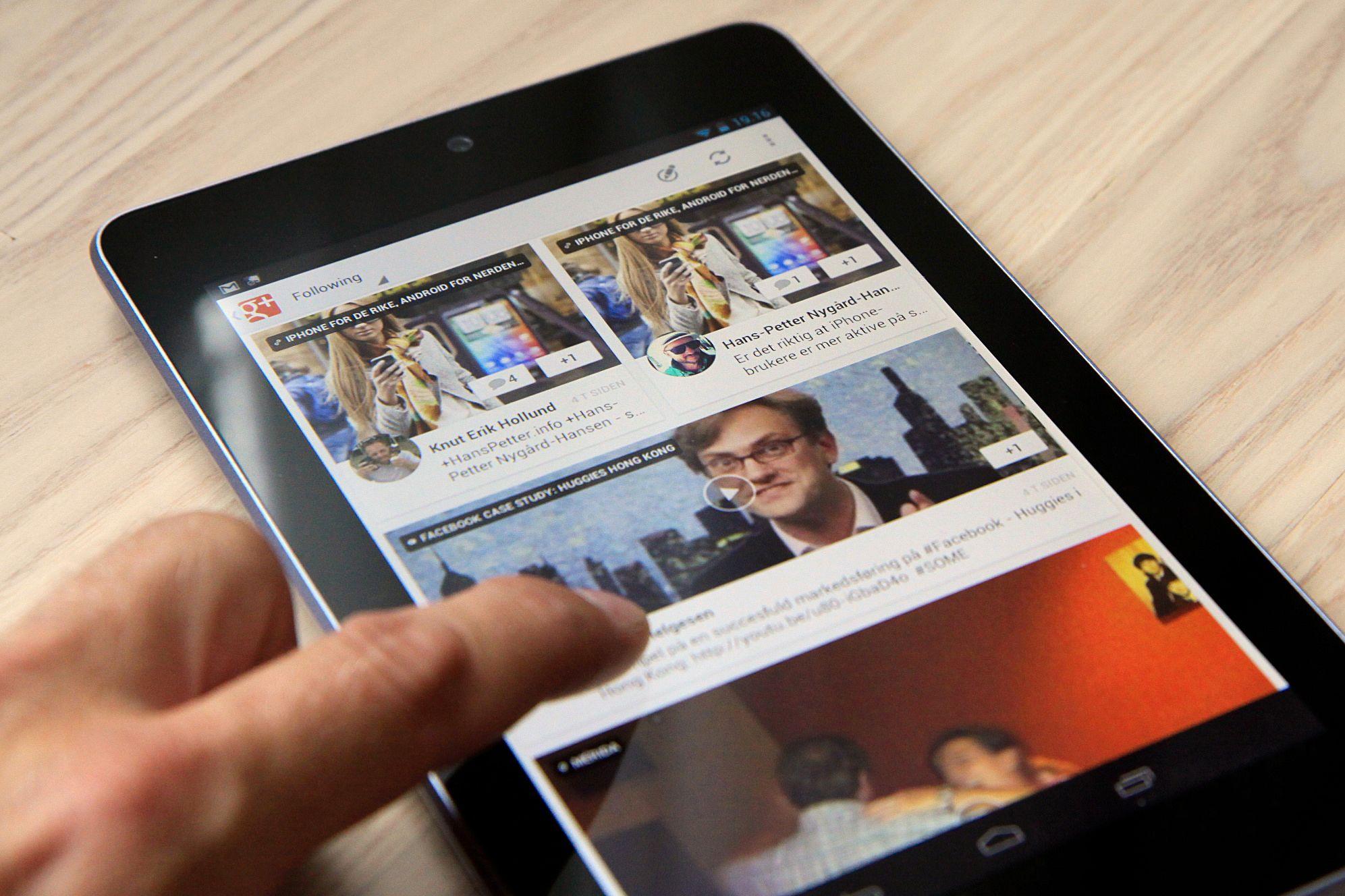 Samsung vil antakeligvis slippe et helt nytt nettbrett, mens Asus er ventet å slippe Nexus 7 med større lagringsplass og støtte for SIM-kort.Foto: Kurt Lekanger, Amobil.no