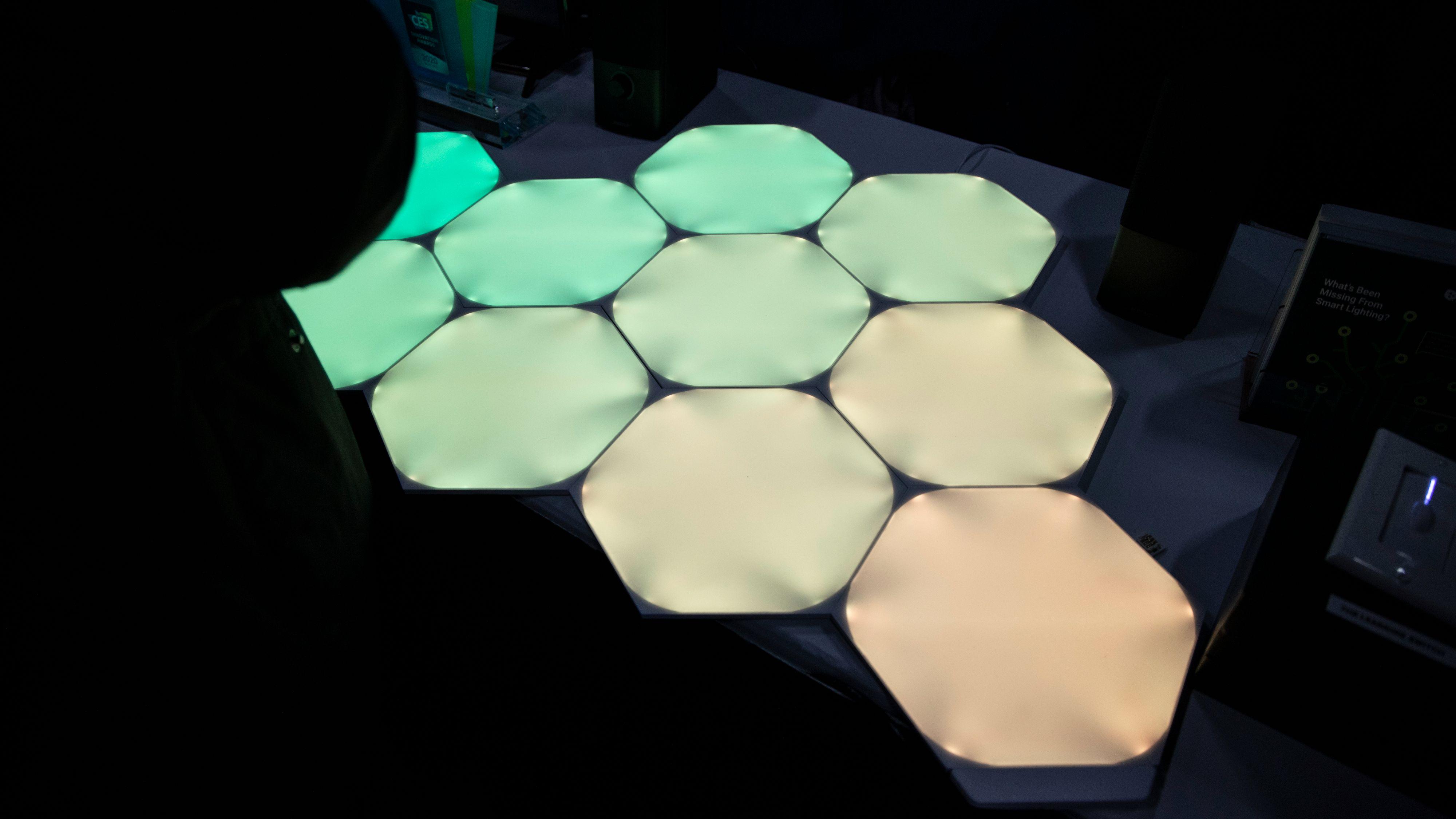Nanoleafs nye sekskantede lysfliser.