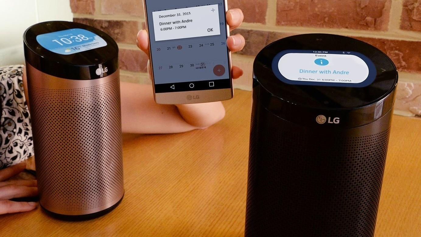 LGs SmartThinQ Hub er en smarthøyttalerne som byr på LCD-skjerm.