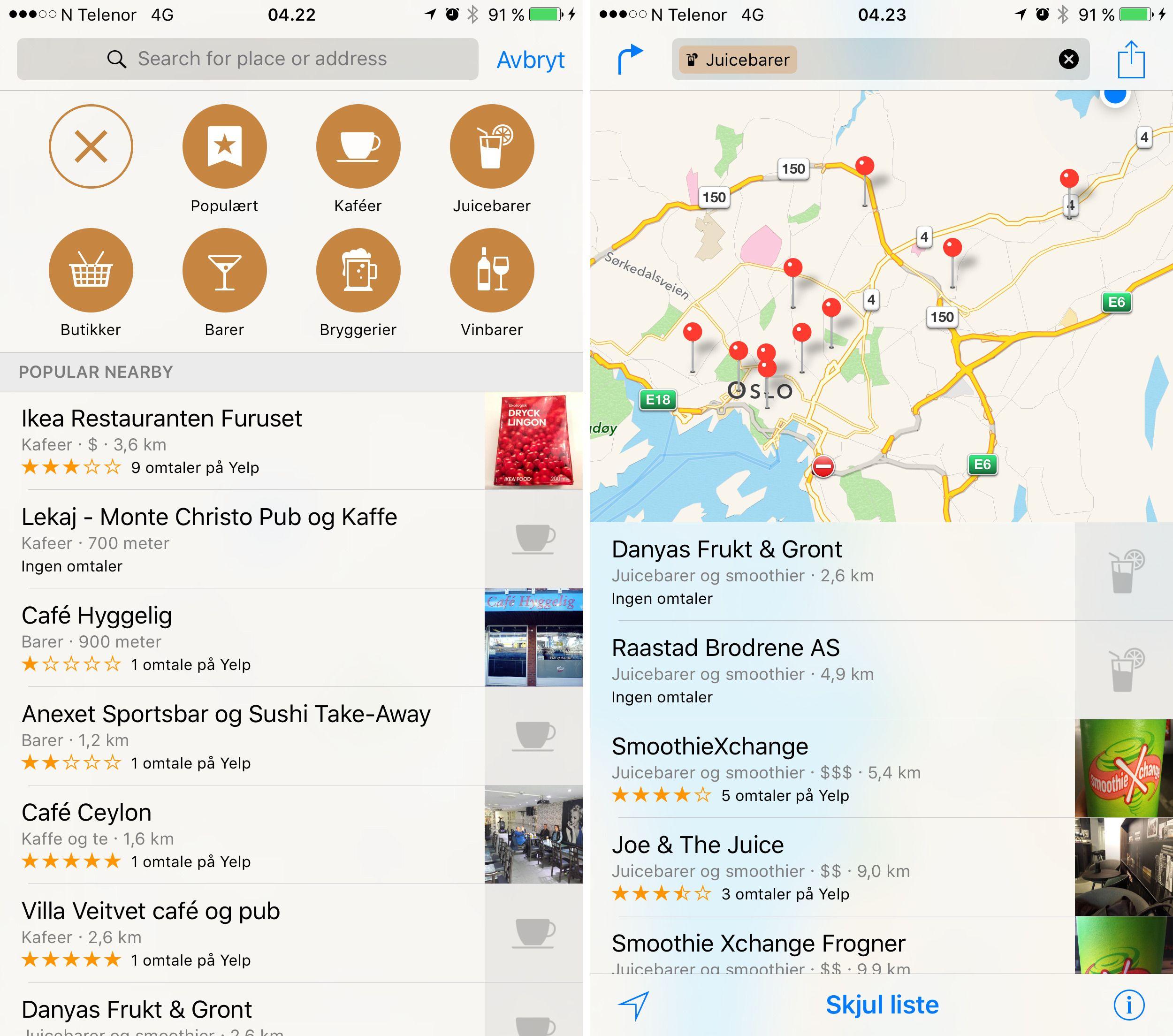 Apple Maps pleide å være en forholdsvis naken kartapplikasjon. Slik er det ikke lenger. Foto: Finn Jarle Kvalheim, Tek.no