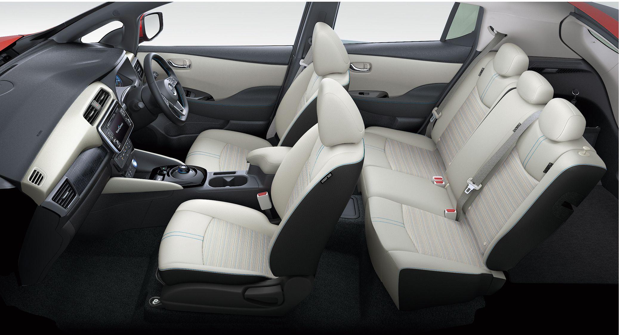 Interiøret i nye Nissan Leaf.