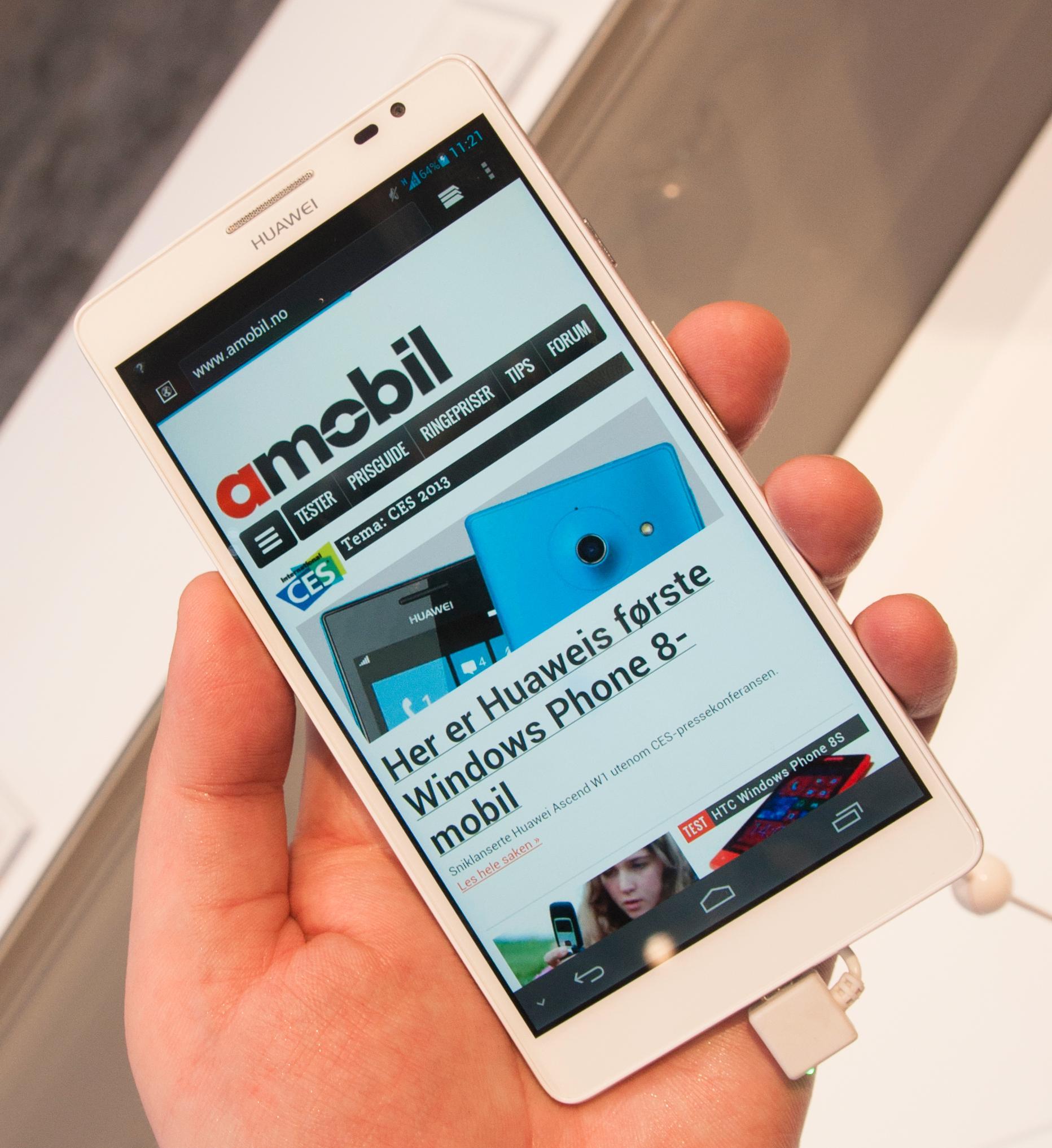Nettleseren på Huawei Ascend Mate.