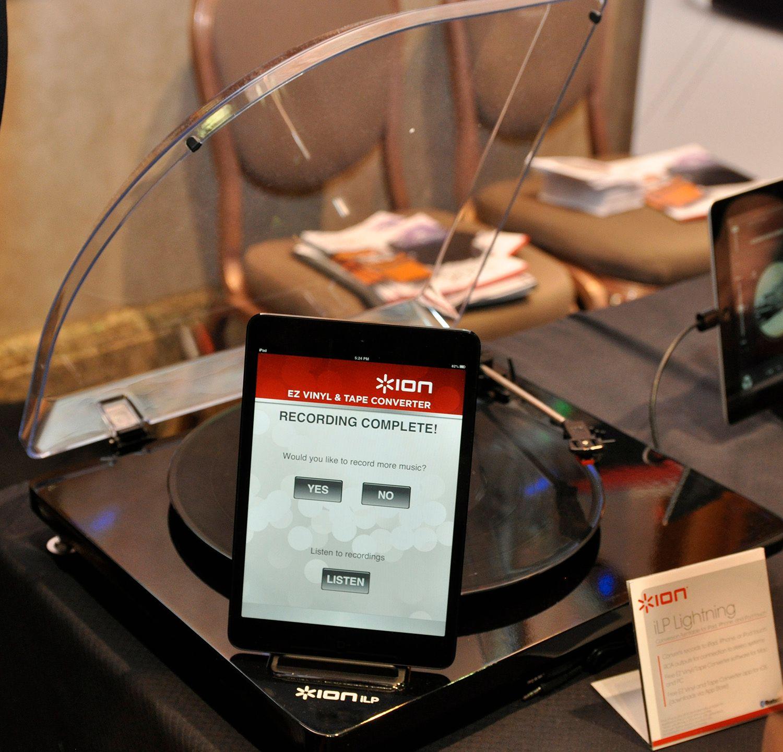 En LP-spiller som kan rippe platene dine direkte til iPad.