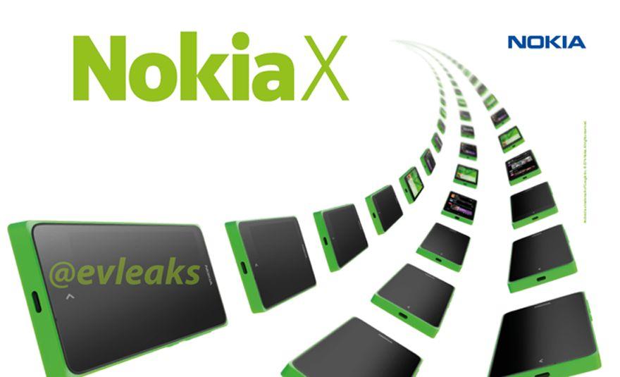 Dette skal ifølge Twitter-brukeren @evleaks være et offisielt bilde fra Nokia, som bekrefter navnet Nokia X.Foto: @evleaks