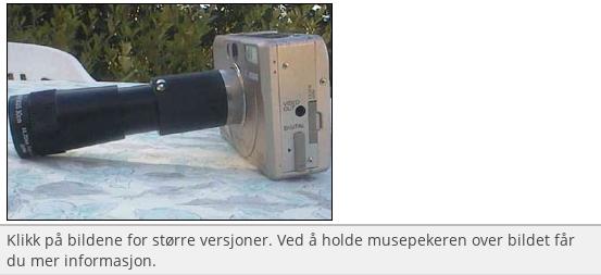 Sett et teleskop foran kameraet!