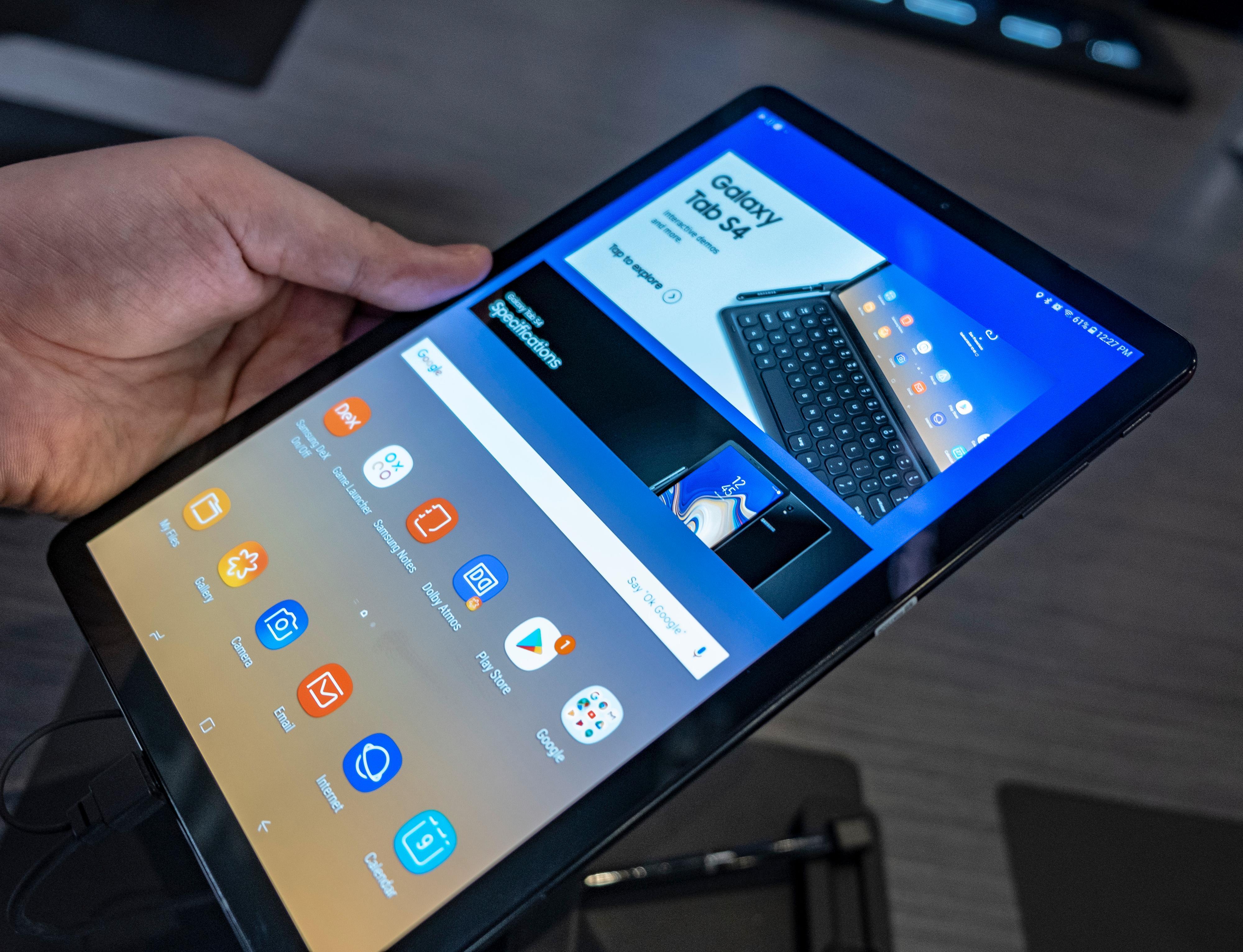 Det er selvsagt ingneting i veien for å bruke Tab S4 med de vanlige Samsung-/Android-menyene.