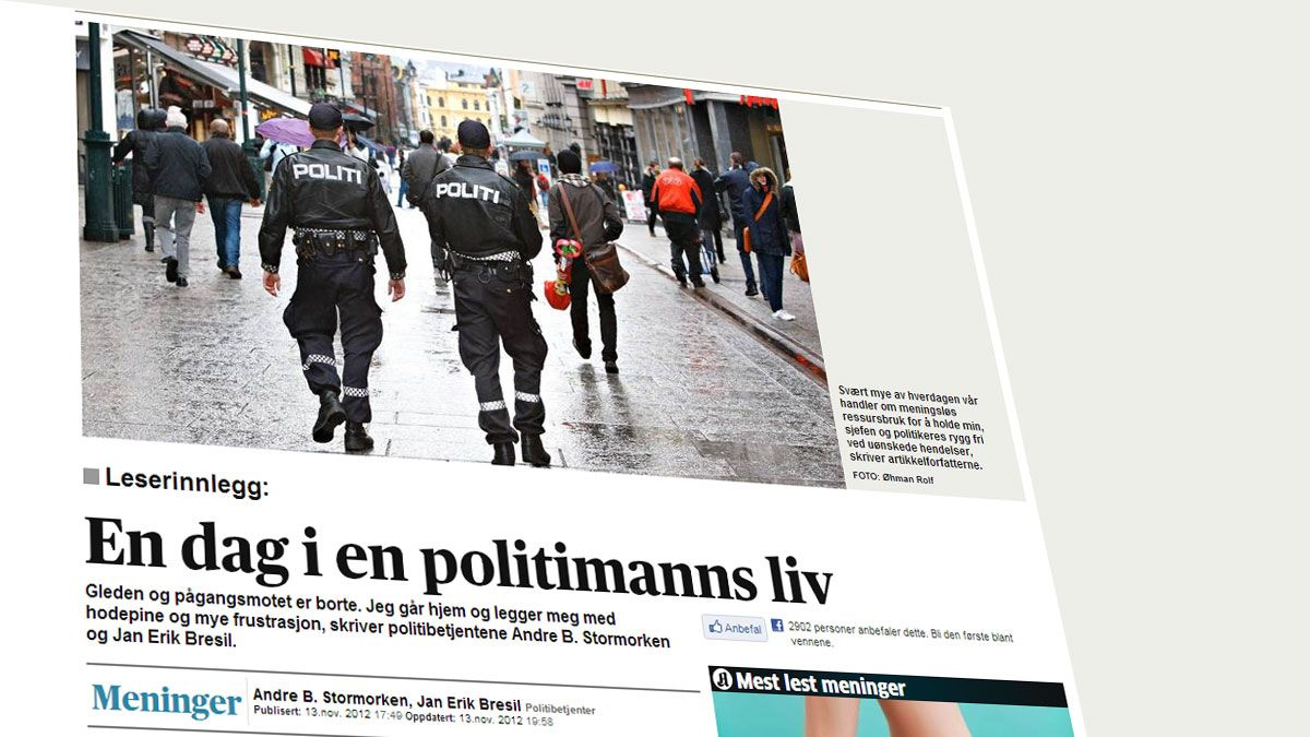 Innlegget hos Aftenposten.no.Foto: Faksimile, Aftenposten