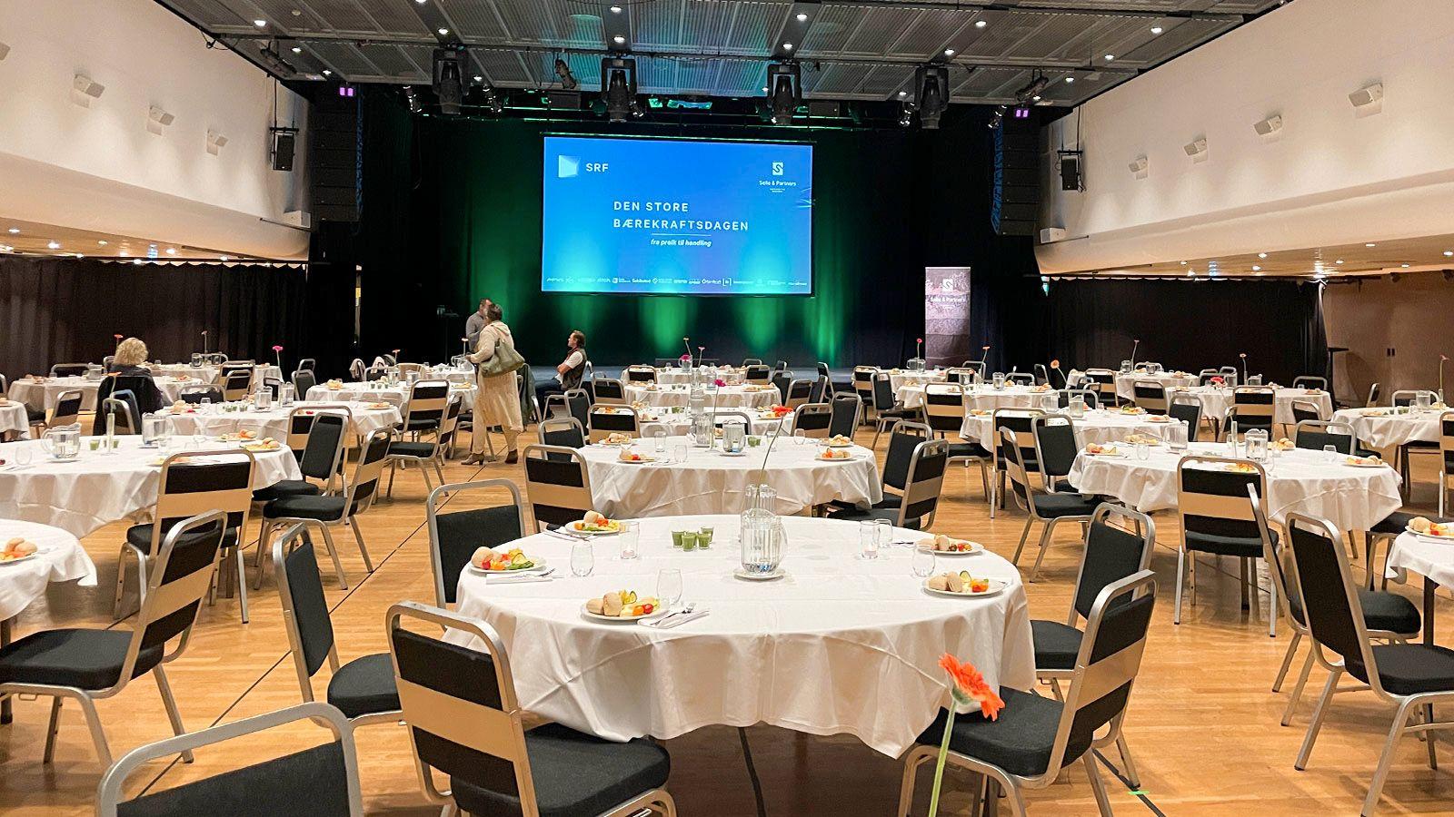 «Den store Bærekraftsdagen» ble arrangert i Grieghallen som en sertifisert Grønn Konferanse.