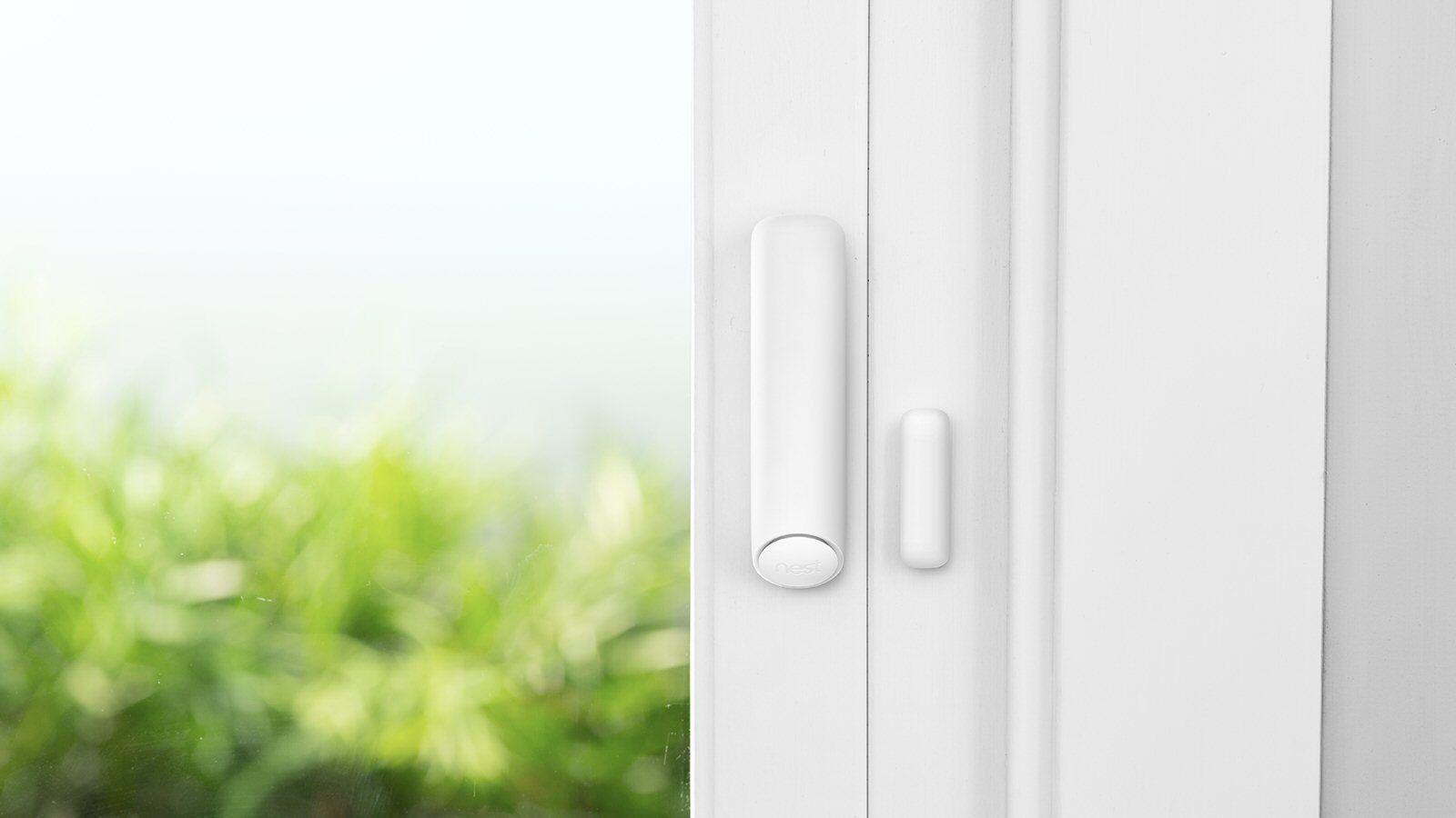 Nest Detect kan også festes på dører og vinduer.