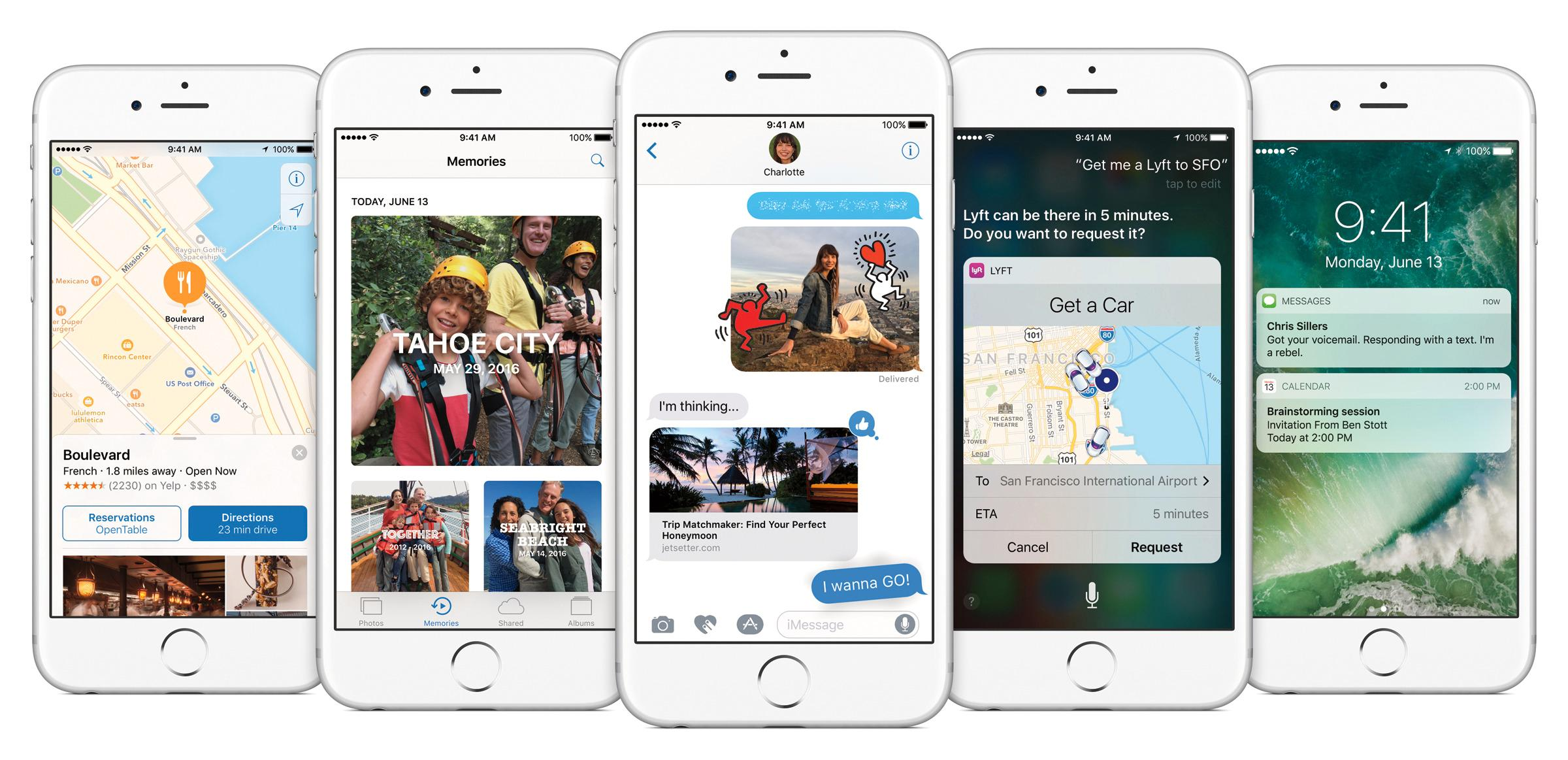 Slik presenterer Apple selv iOS 10.