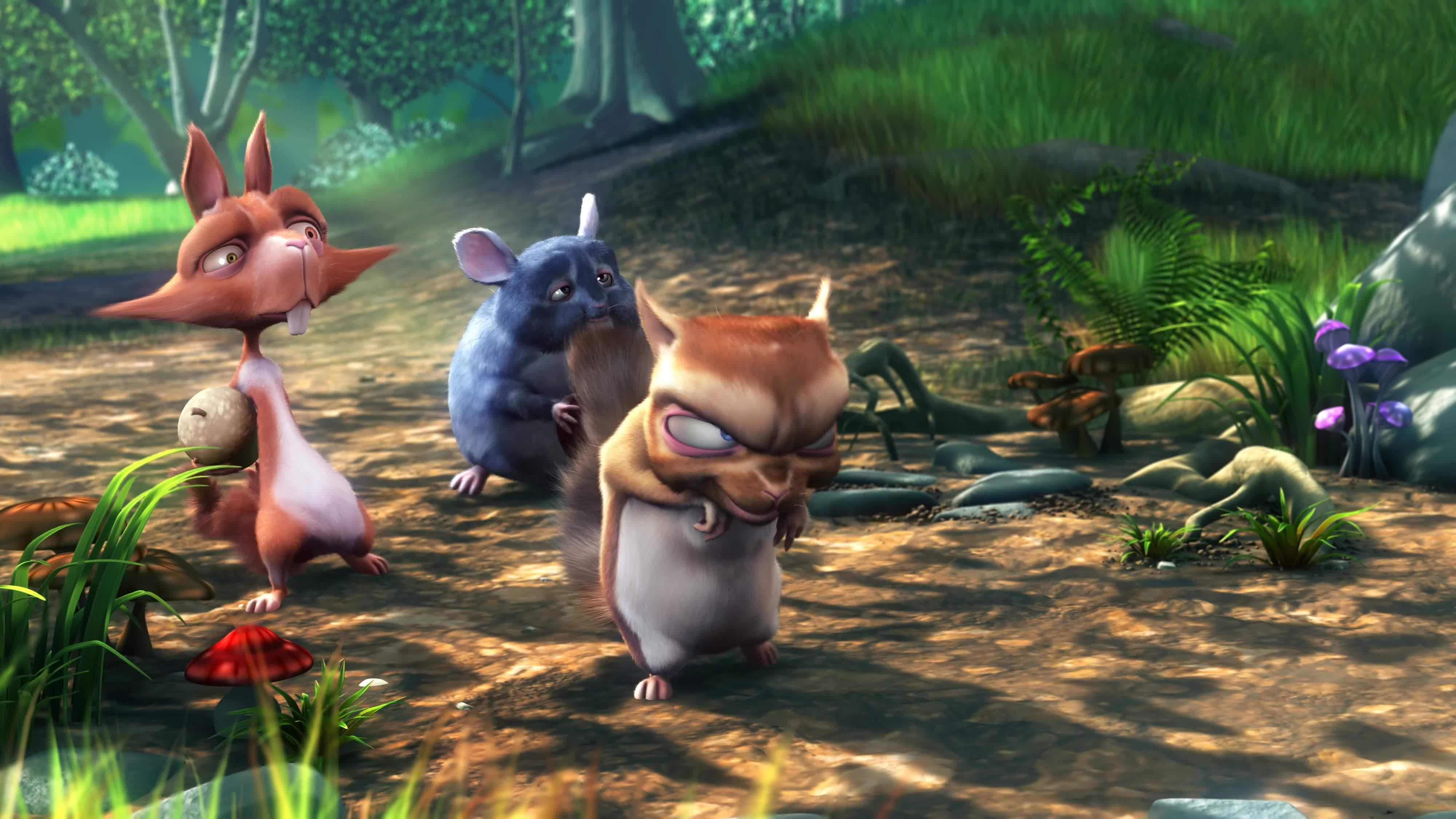 Big Buck Bunny og hans (u)venner var klare kandidater for å illustrere forskjellen mellom 4K og 1080p.