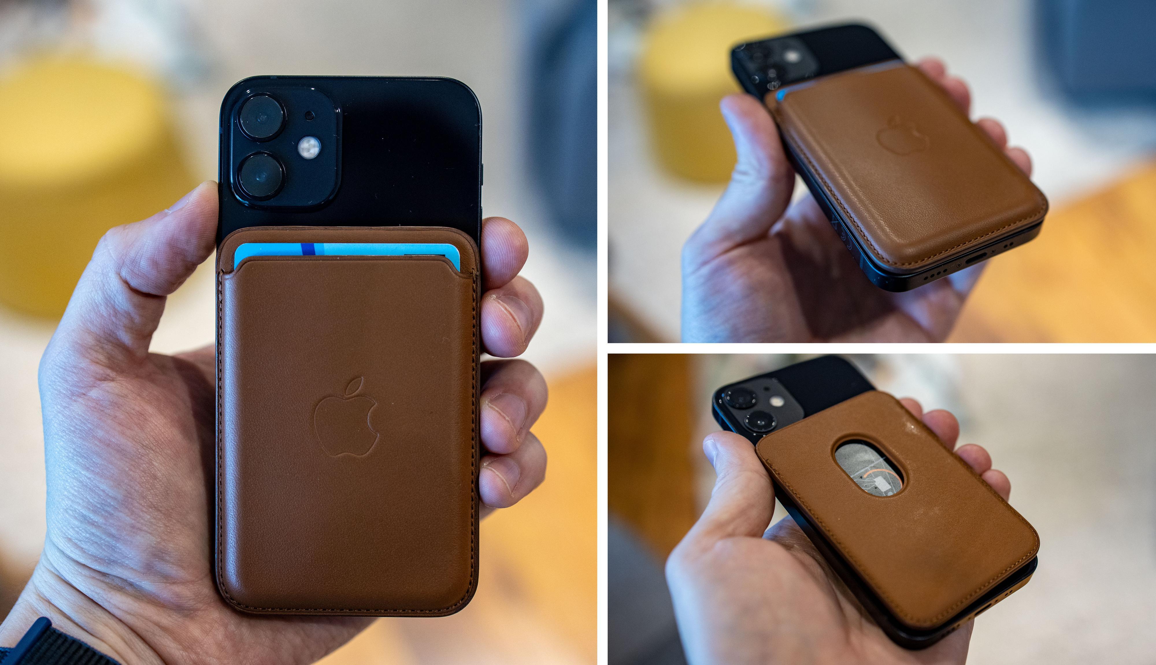 Lommeboktilbehøret fungerer greit, men vi tipper tredjepartsprodusenter vil kunne lage noe bedre og billigere. Men vi liker at kortholderen går helt ut i kantene på iPhone 12 Mini.