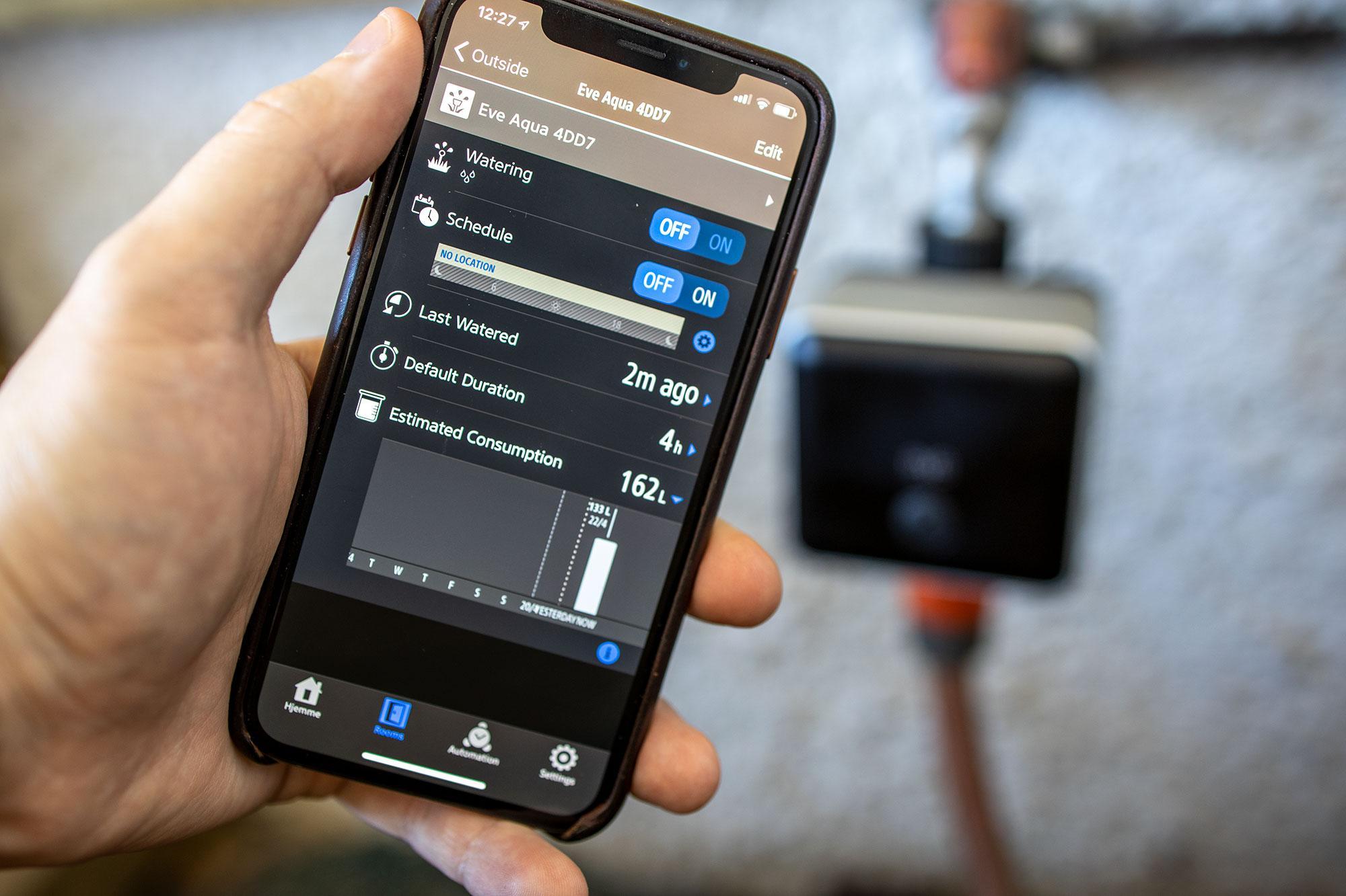 Det er i Eve-appen du får tilgang til all funksjonaliteten Aqua har å by på.