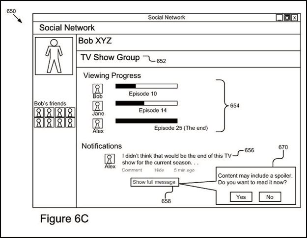 Slik ser Google for seg at et spoiler-filter kan fungere. Foto: Google/USPTO