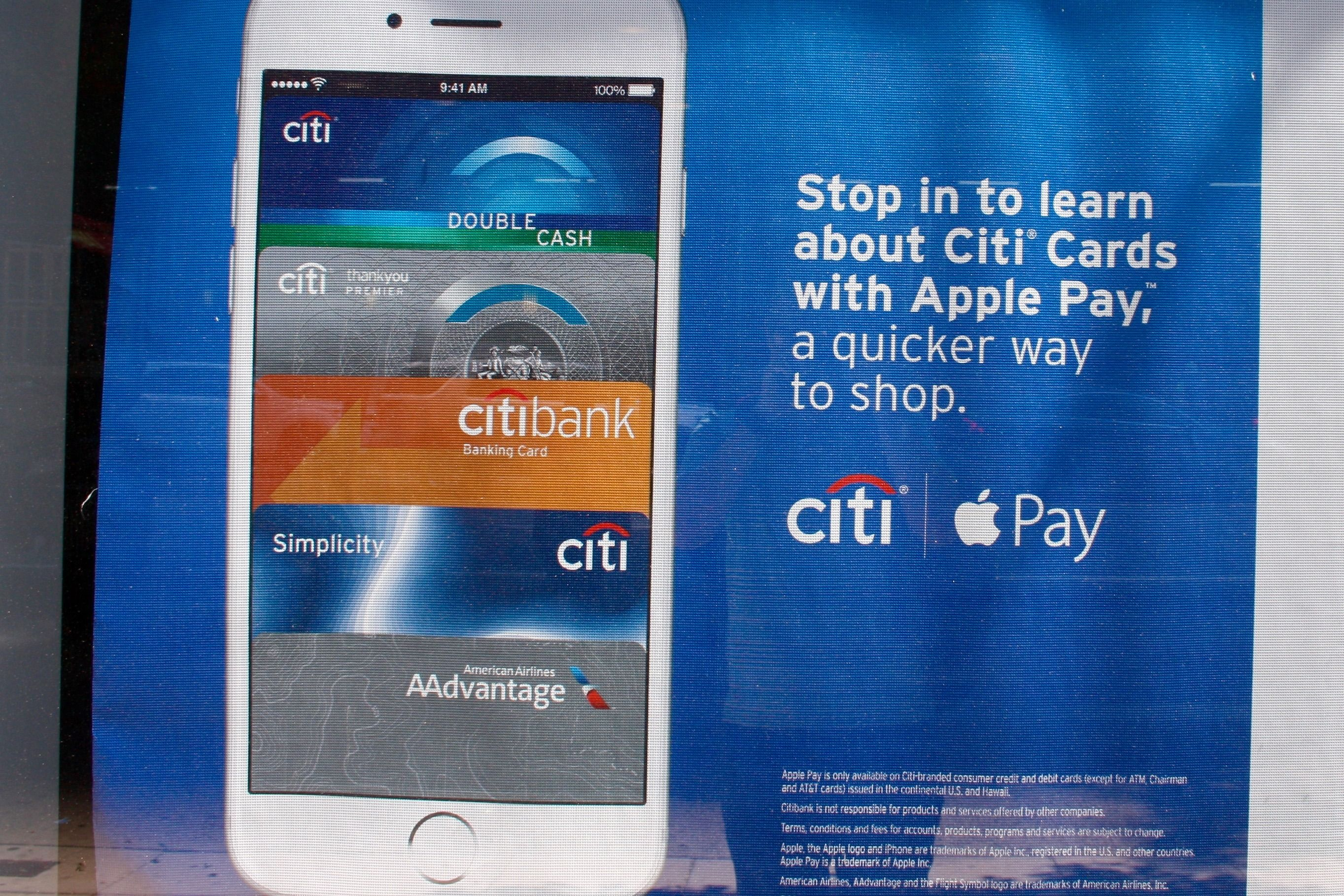 Citibank lokker kundene med Apple Pay. De er langt fra eneste bank som tilbyr tjenesten. Foto: Daniel Rosenquist