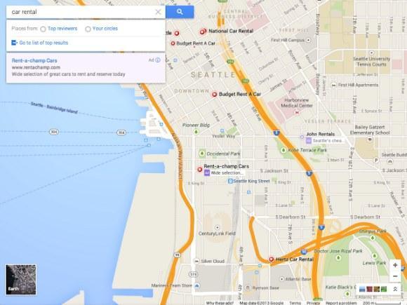 Gule veier har blitt hvite og sidepanelet har forsvunnet.Foto: Google Operating System