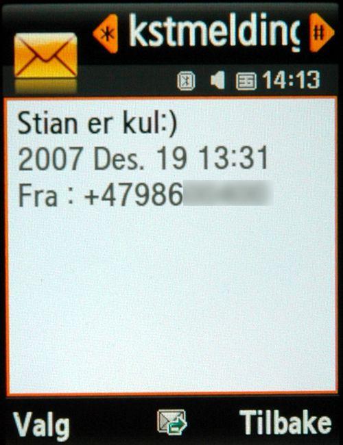 SMS-funksjonene er oversiktlige og enkle å bruke.