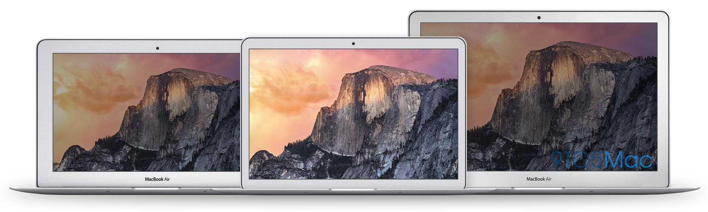 Fra venstre: Dagens MacBook Air 11