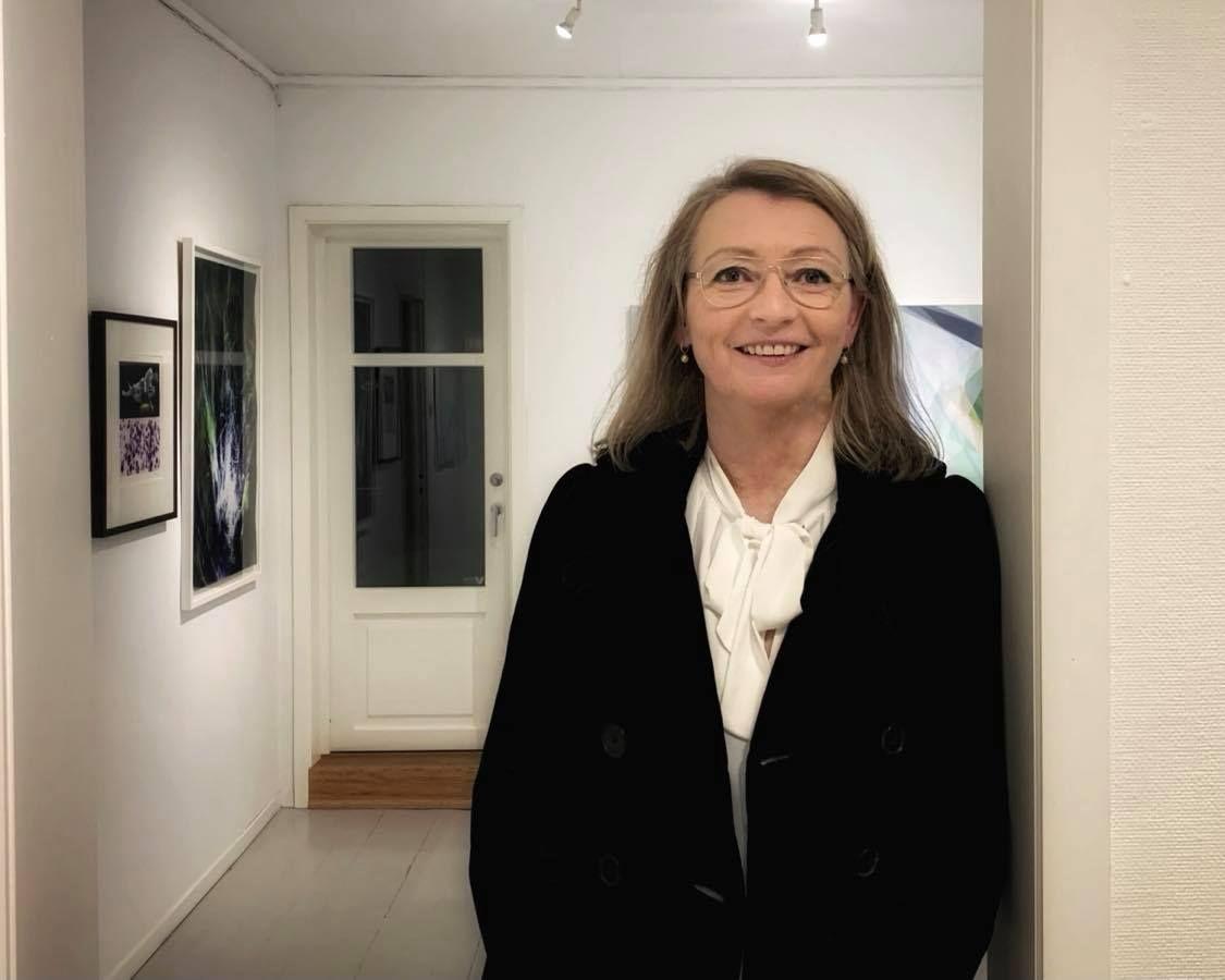 Tidligere eier Elin Halvorsen fra Kunstgalleriet.
