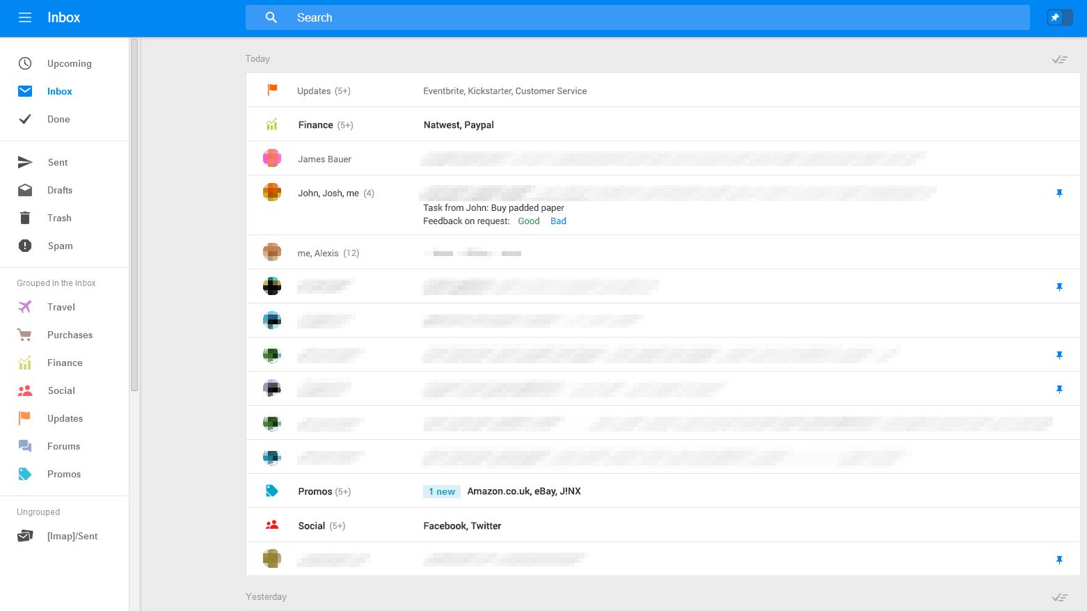 Slik ser en testversjon av nye Gmail ut.