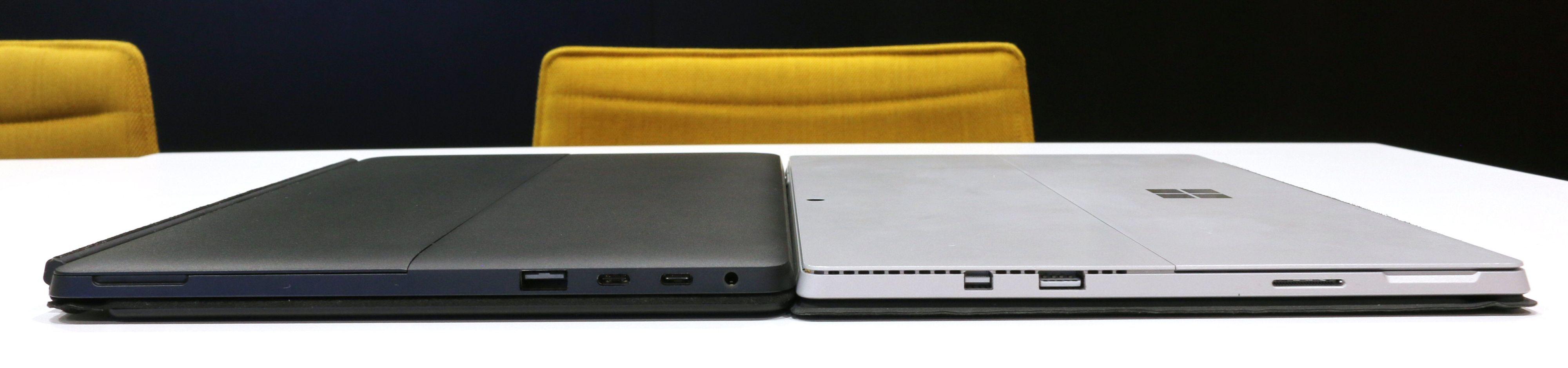 Eve V er ikke påtagelig mye tykkere enn en Surface Pro, men den er merkbart tyngre. Bilde: Vegar Jansen, Tek.no