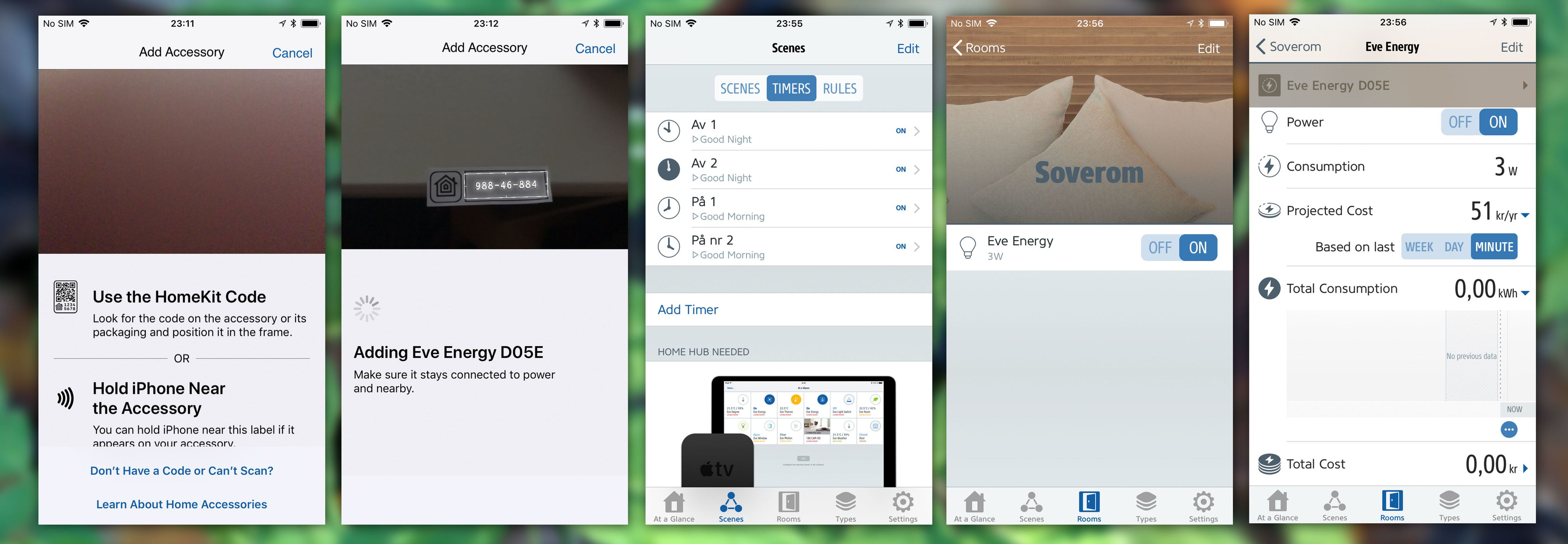 Eve Energy har en litt alternativ og kronglete måte å sette opp strømstyringen på, men når du først har det oppe og går fungerer det bra. Bare synd appen kun finnes til iOS...