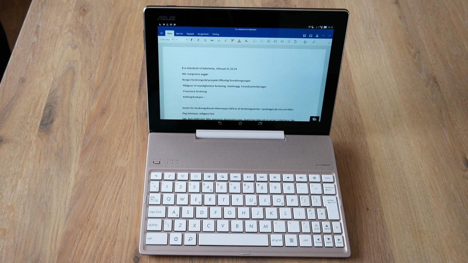 Skal du jobbe med tekst kommer dette tastaturet godt med. Foto: Espen Irwing Swang, Tek.no