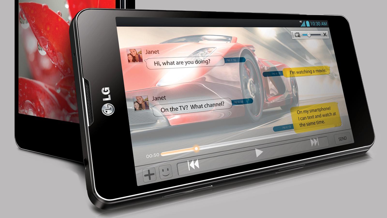 En større variant av LG Optimus G (bildet) vil bli vist på CES, ifølge ryktene. .Foto: LG