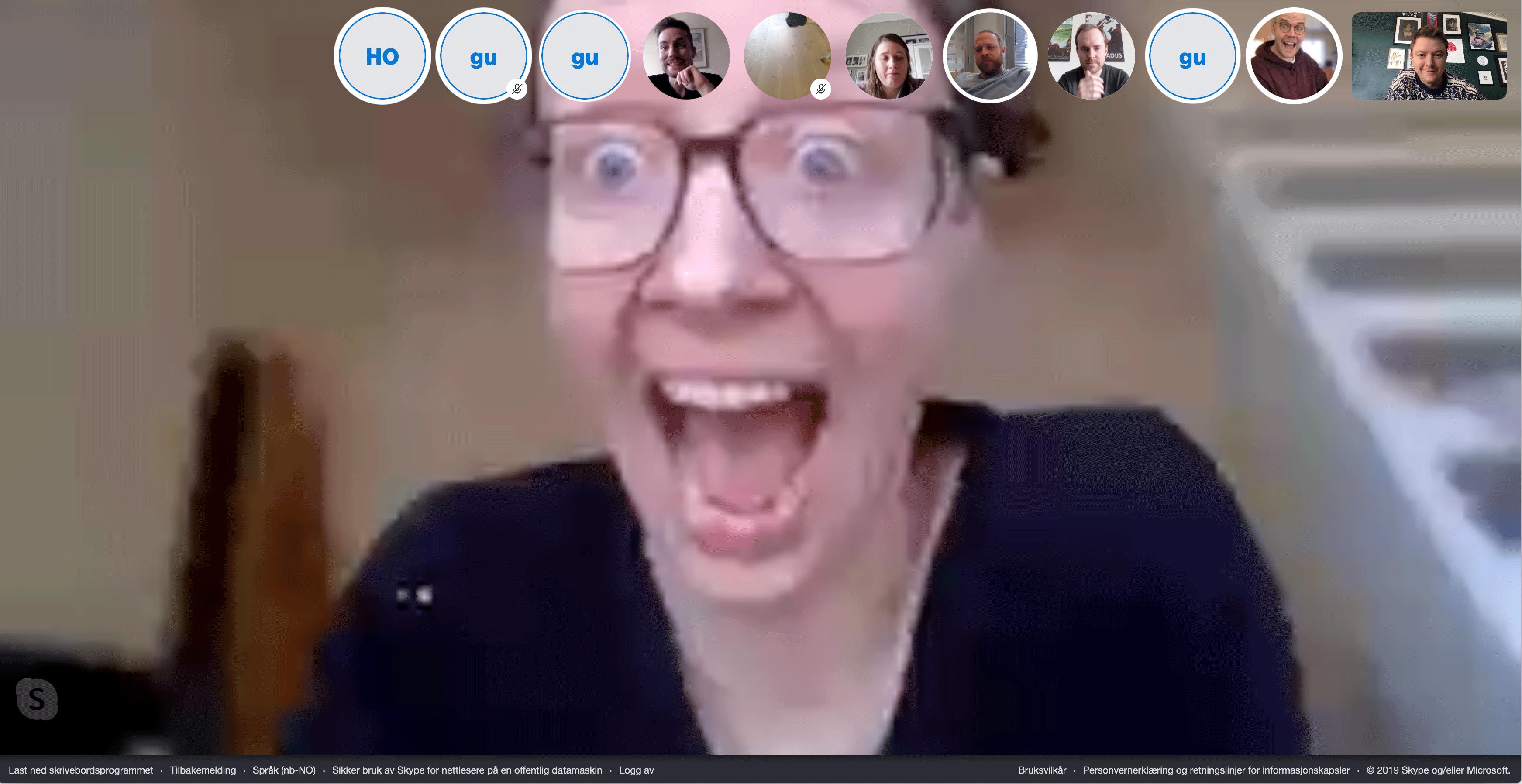 Skype hadde dårligst video og bildekvalitet, og har ingen avanserte funksjoner bortsett fra skjermdeling.