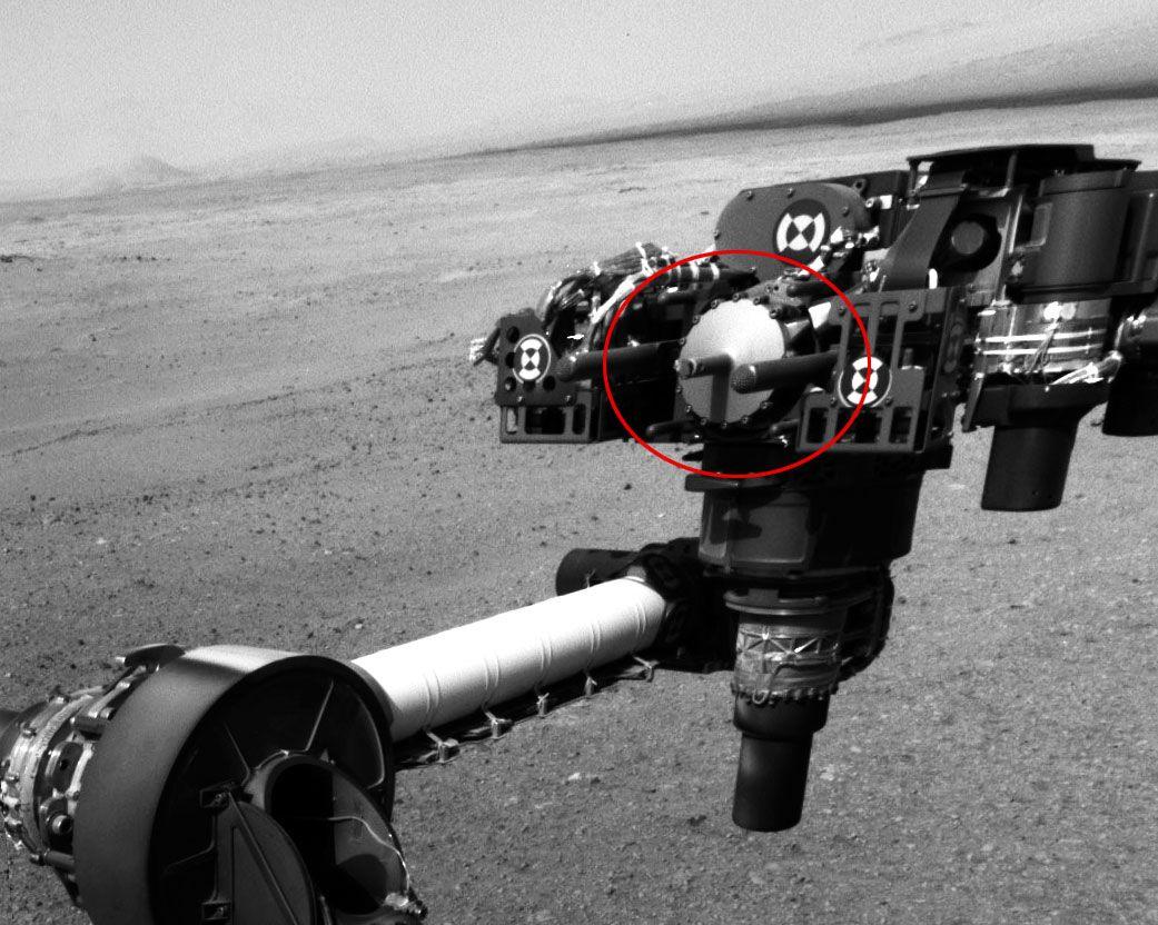 MULIG SMITTEBÆRER: Dette er stridens hode. Det er deler til denne drillen NASA utsatte for jordiske mikrober før kjøretøyet ble sendt til Mars.Foto: JPL-Caltech (NASA)