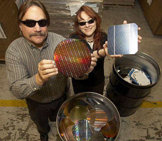 IBM omdanner ubrukelige silisiumskiver til solcelle-paneler (Foto: IBM)