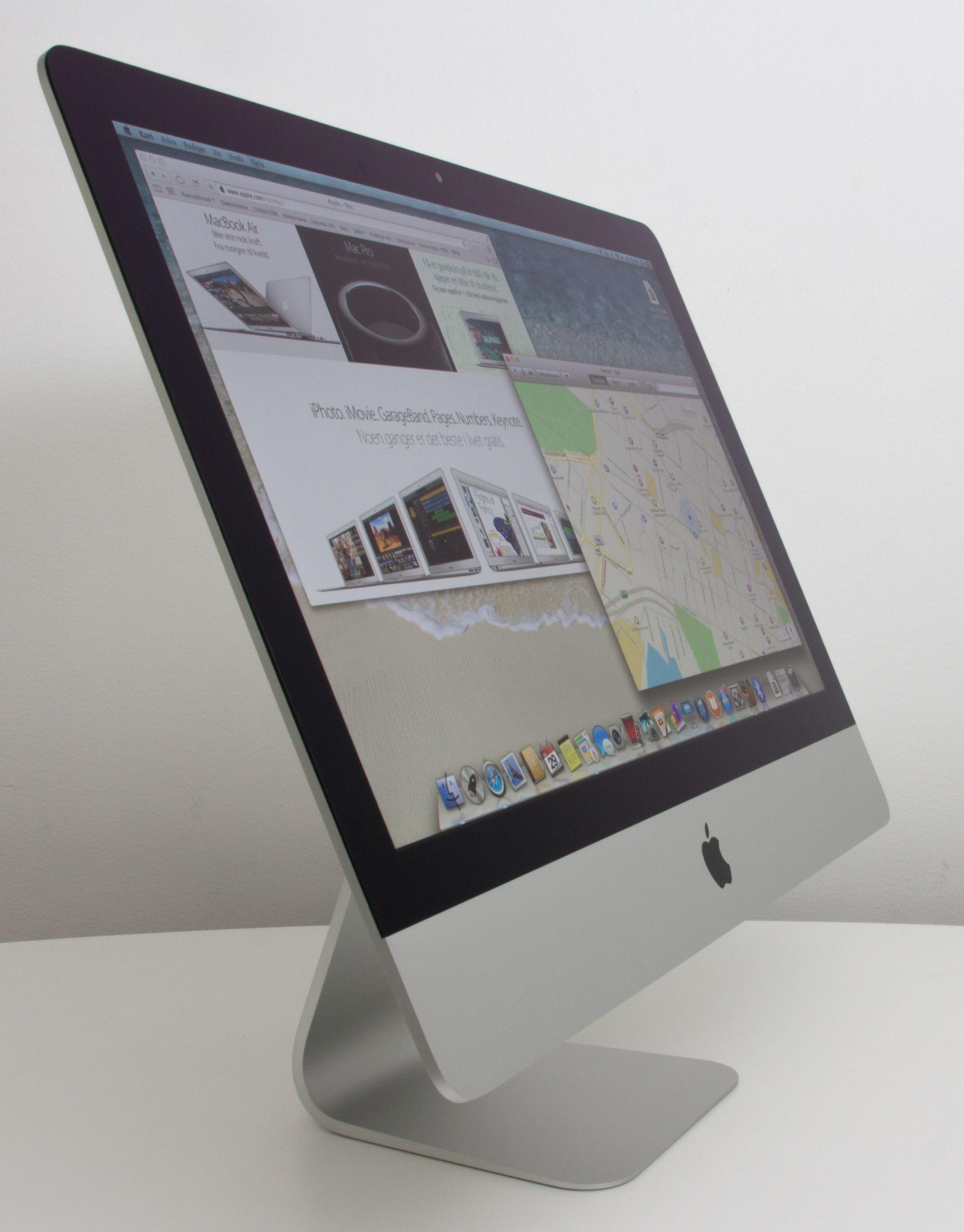 iMac ser enda tynnere ut enn den er.Foto: Anders Brattensborg Smedsrud, Hardware.no